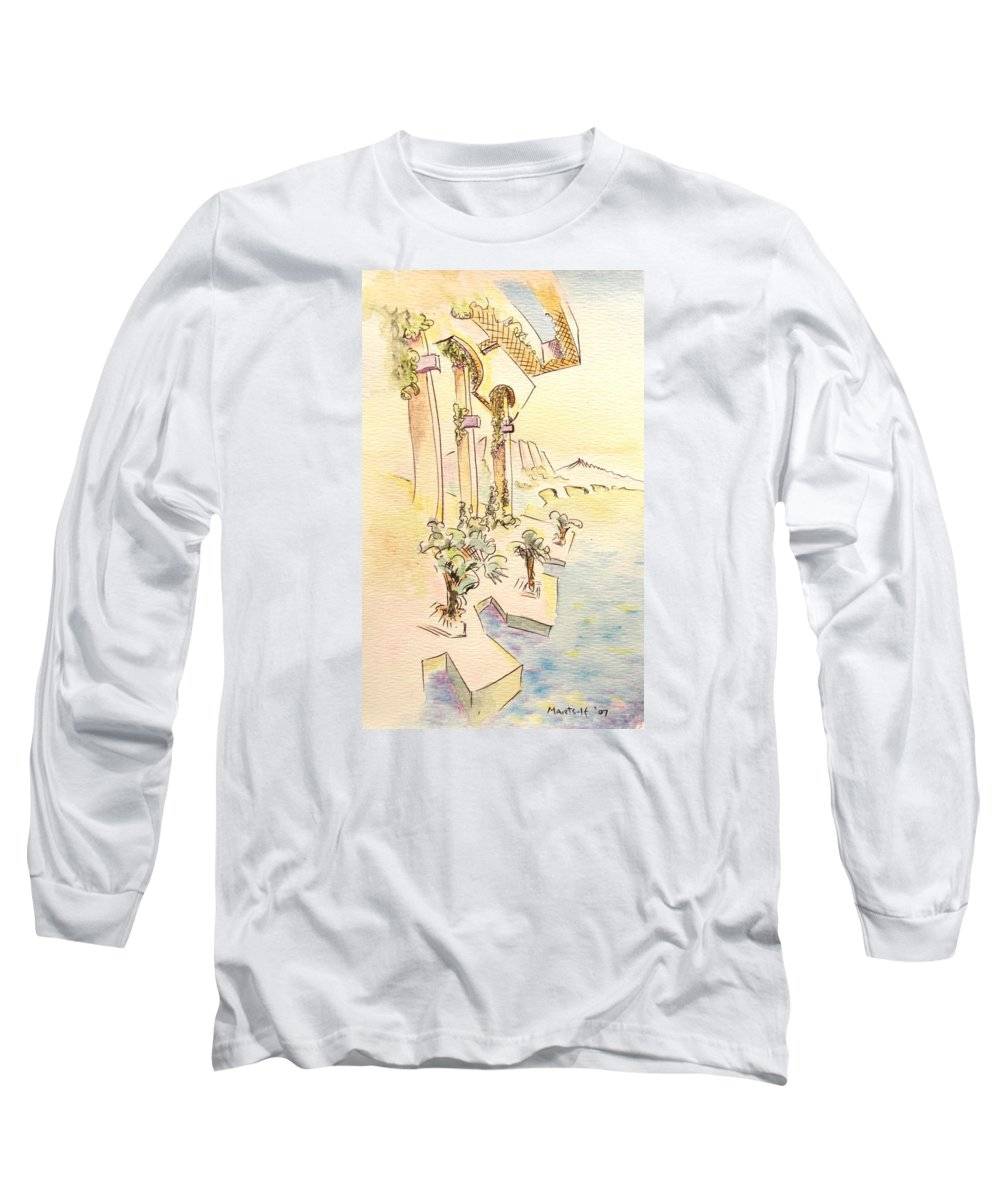 Italian Long Sleeve T-Shirt featuring the painting Classic Summer Morning by Dave Martsolf