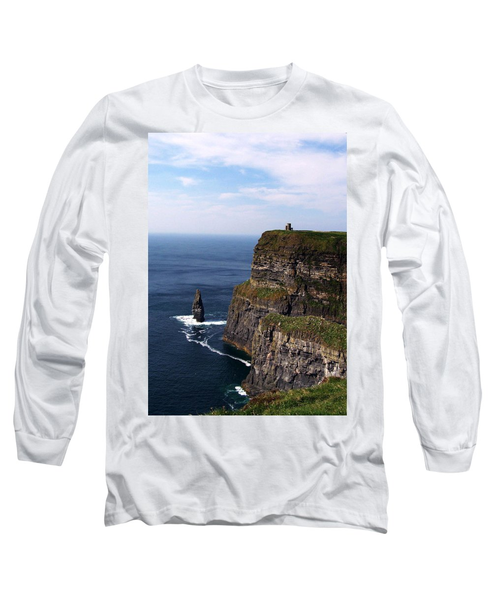 Irish Long Sleeve T-Shirt featuring the photograph Cliffs Of Moher County Clare Ireland by Teresa Mucha