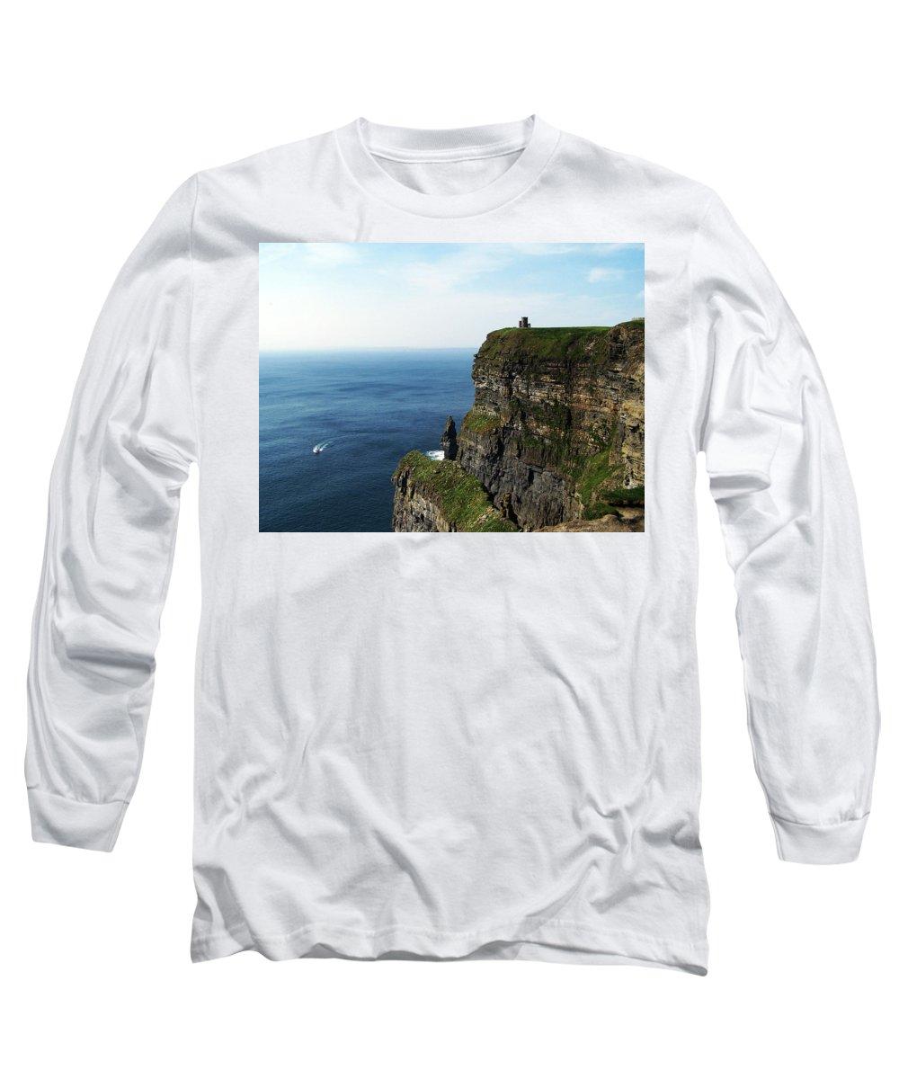 Irish Long Sleeve T-Shirt featuring the photograph Cliffs Of Moher Ireland by Teresa Mucha