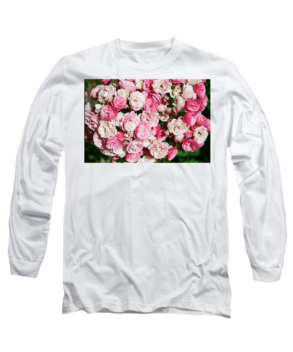 Rose Long Sleeve T-Shirt featuring the photograph Cluster Of Roses by Dean Triolo