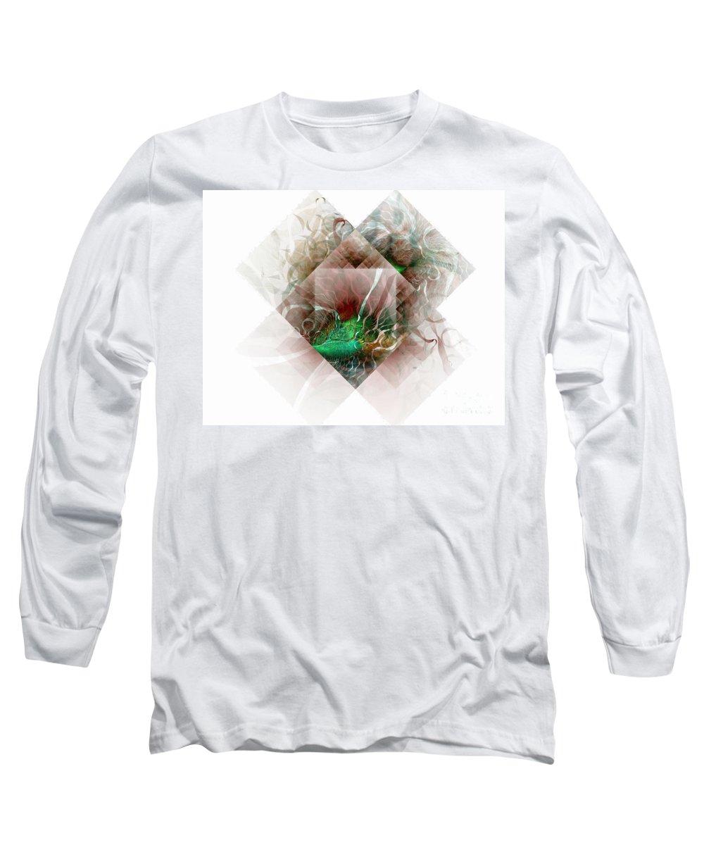 Digital Art Long Sleeve T-Shirt featuring the digital art Coastal Memoirs by Amanda Moore