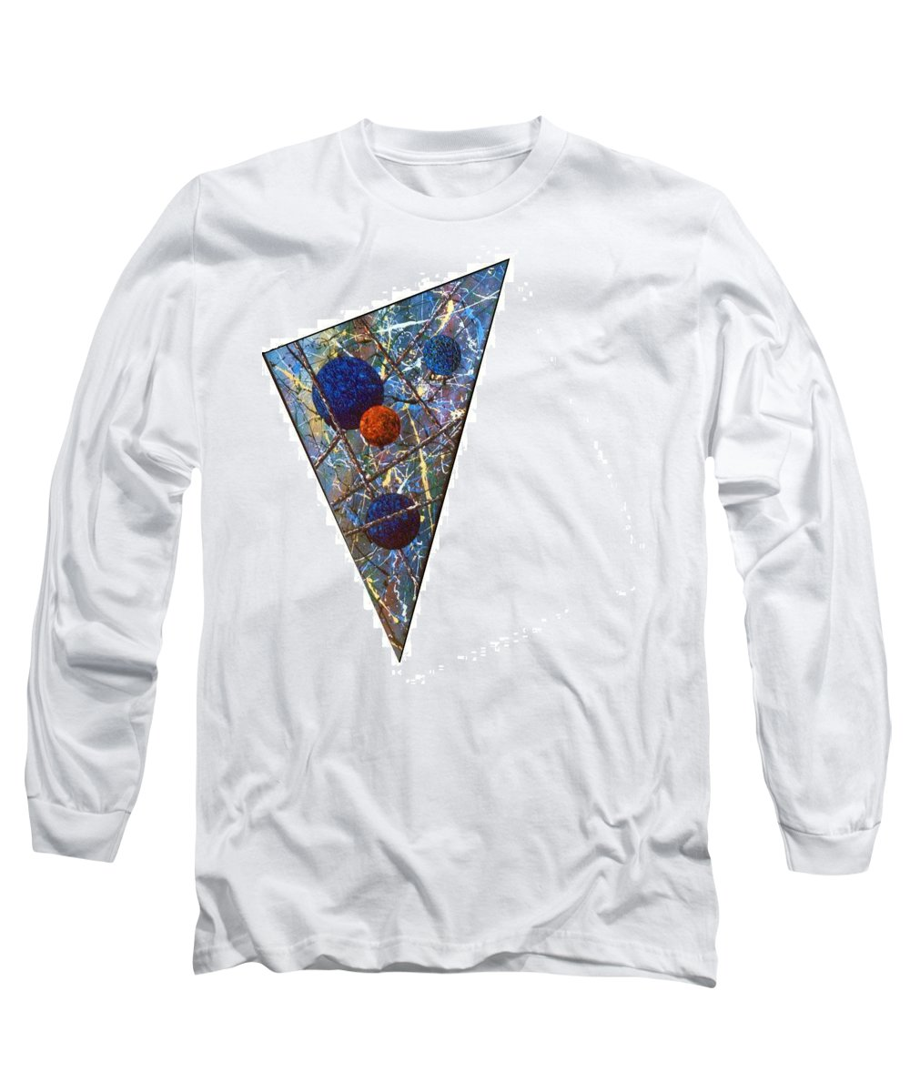Abstract Long Sleeve T-Shirt featuring the painting Continuum 3 by Micah Guenther