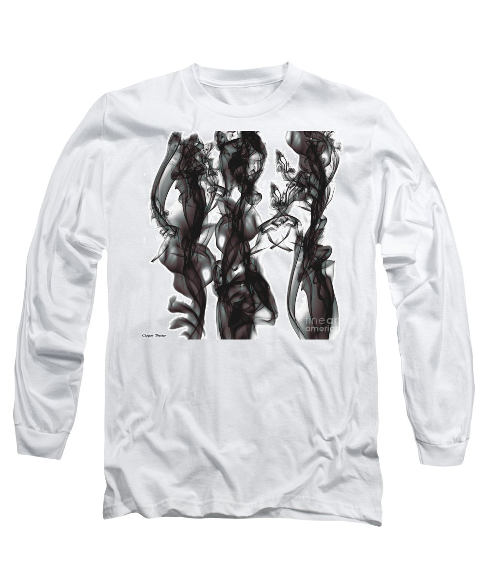 Clay Long Sleeve T-Shirt featuring the digital art Conversations by Clayton Bruster