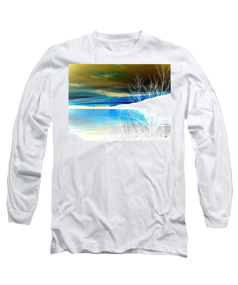 Winter Long Sleeve T-Shirt featuring the digital art Cool Waters by Will Borden