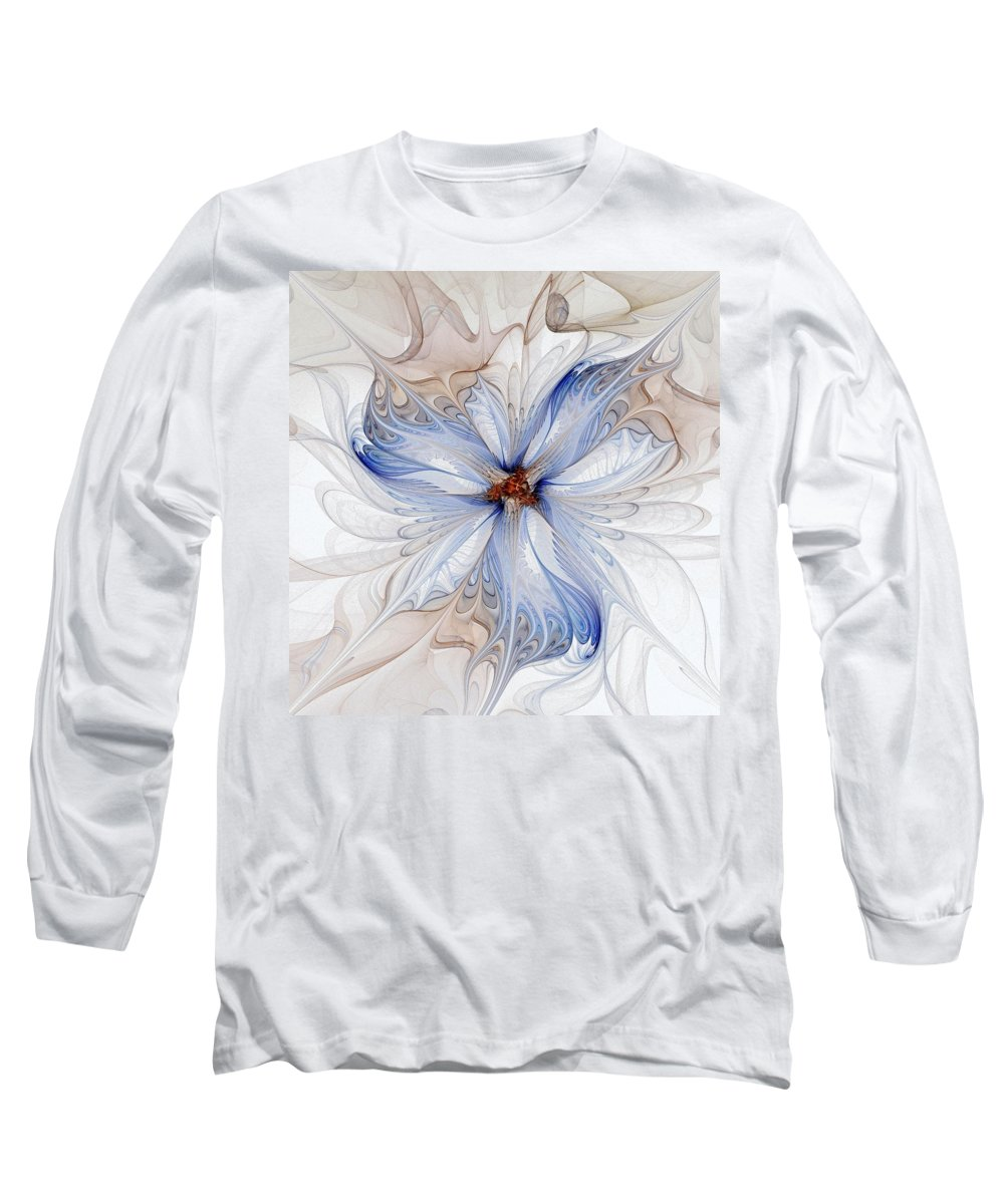 Digital Art Long Sleeve T-Shirt featuring the digital art Cornflower Blues by Amanda Moore