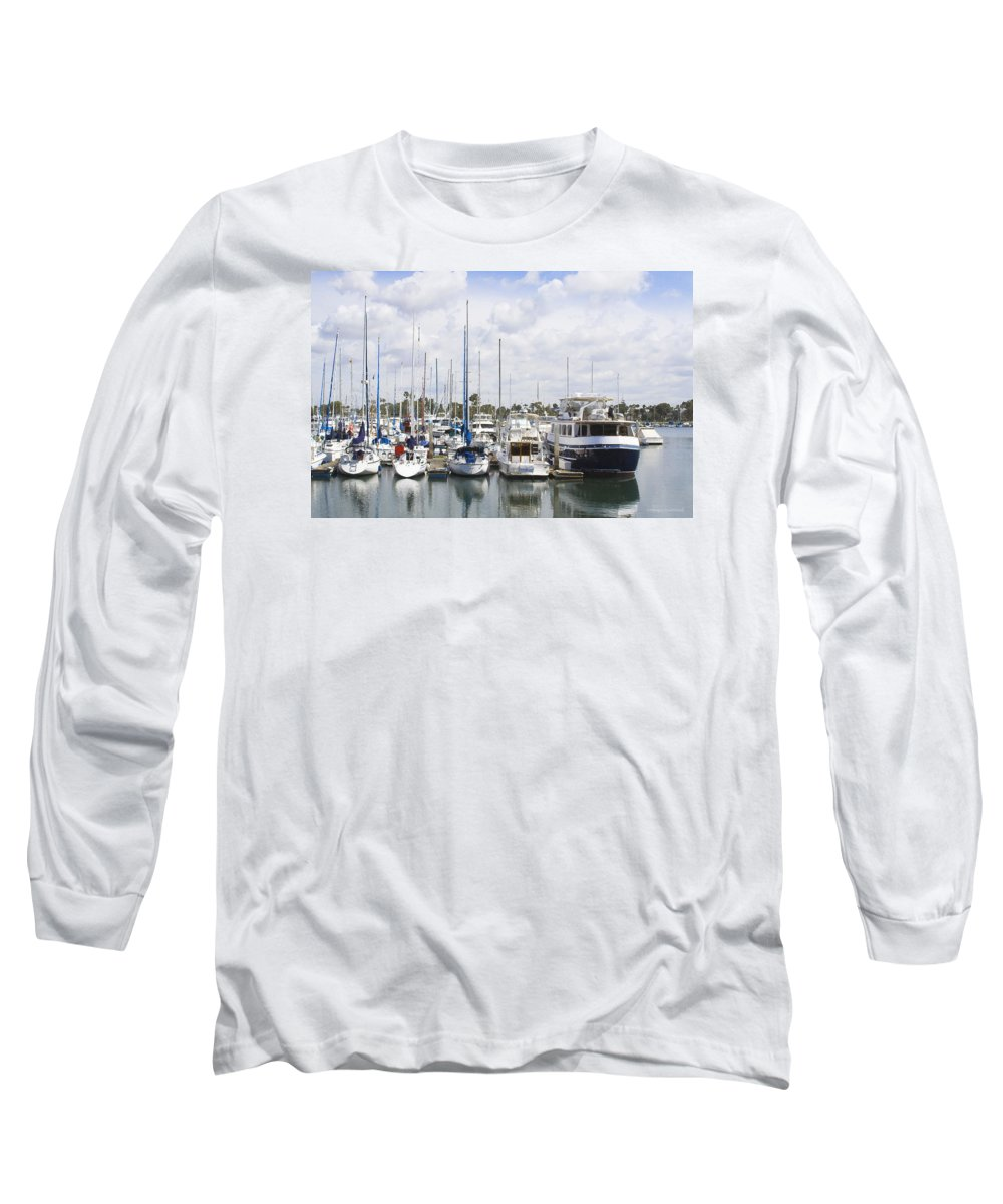 Coronado Long Sleeve T-Shirt featuring the photograph Coronado Boats II by Margie Wildblood
