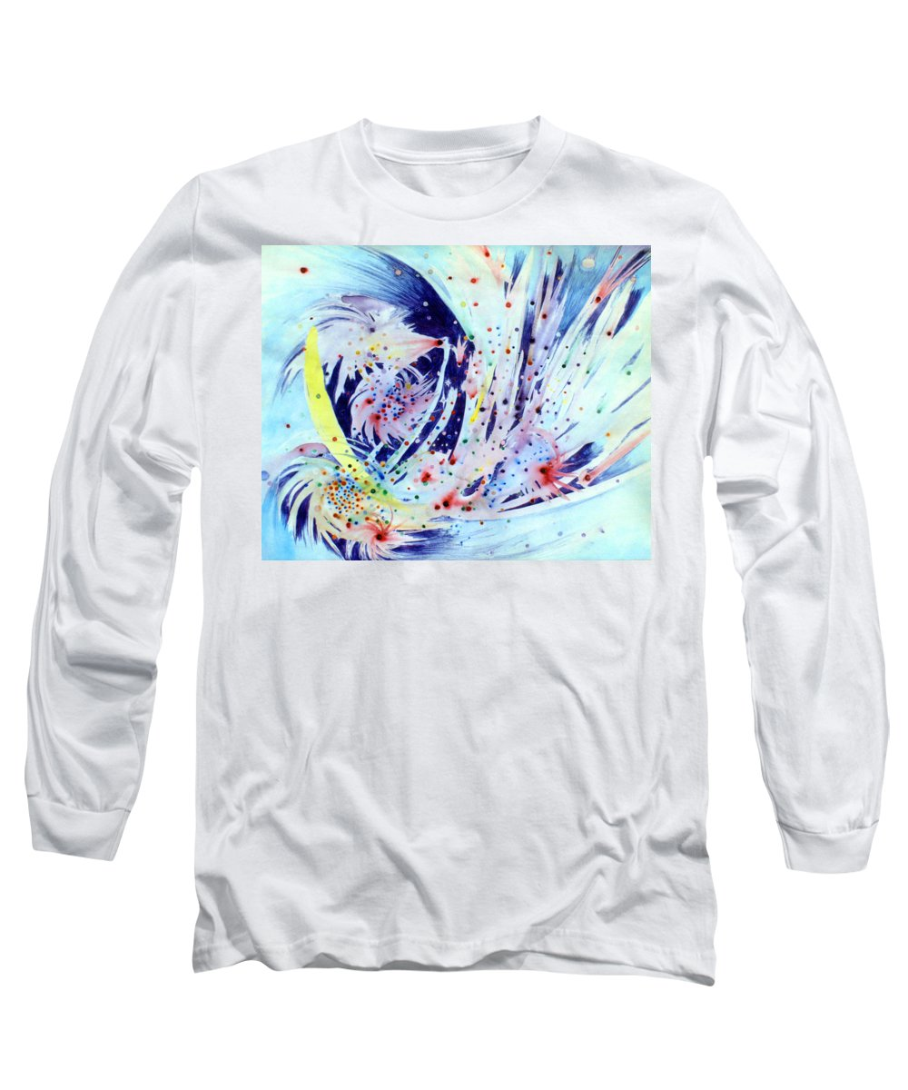 Abstract Long Sleeve T-Shirt featuring the painting Cosmic Candy by Steve Karol