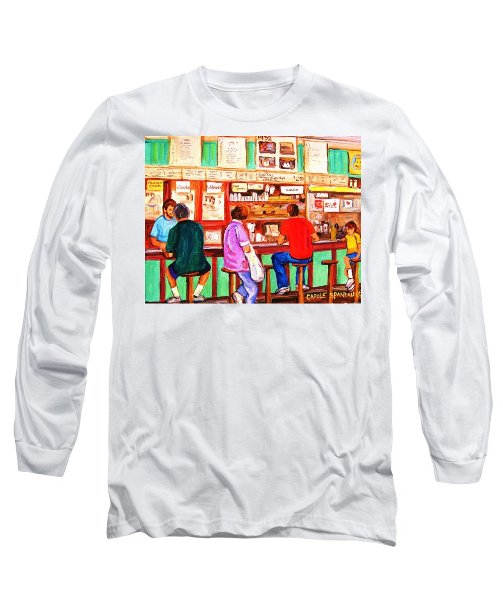 Montreal Long Sleeve T-Shirt featuring the painting Counter Culture by Carole Spandau
