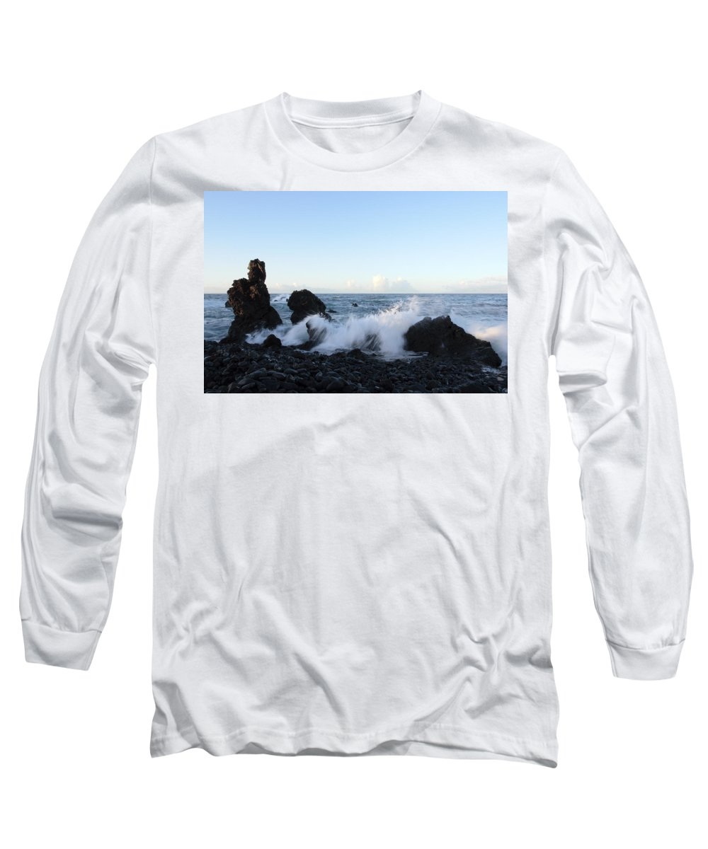 Waves Long Sleeve T-Shirt featuring the photograph Crashing Wave by Phil Crean