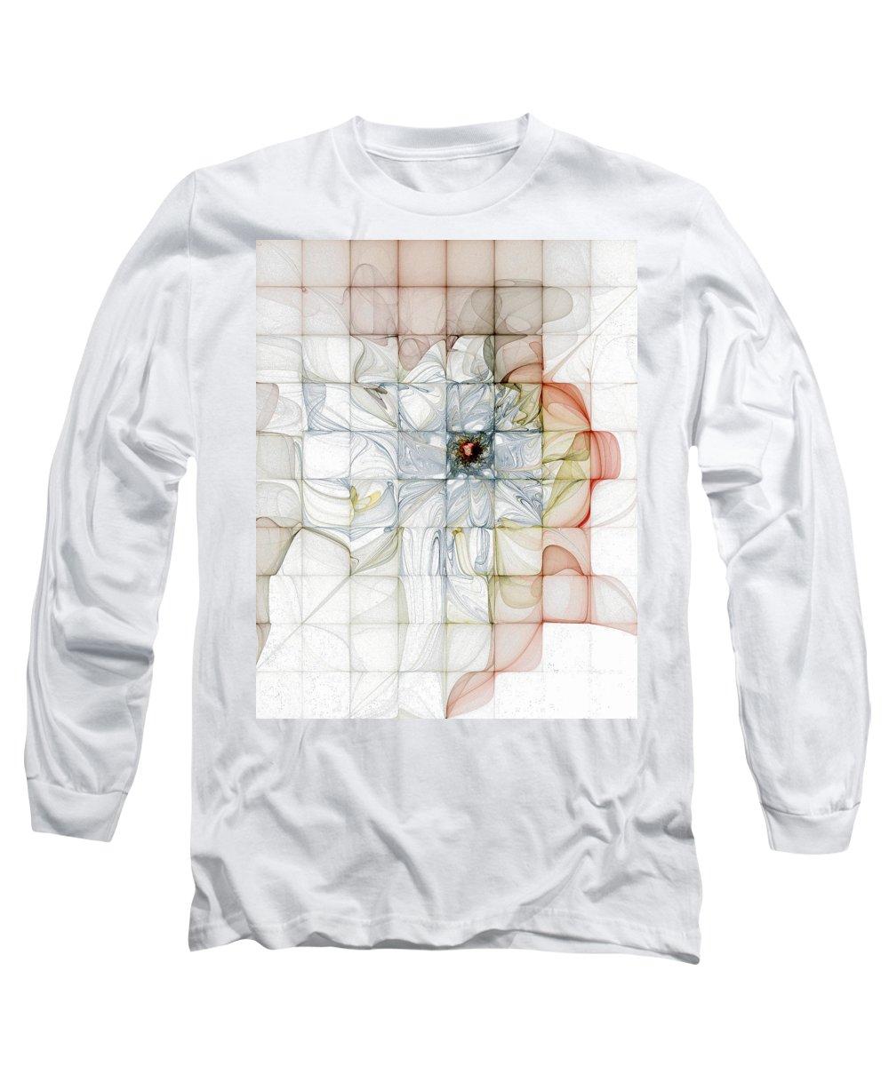 Digital Art Long Sleeve T-Shirt featuring the digital art Cubed Pastels by Amanda Moore