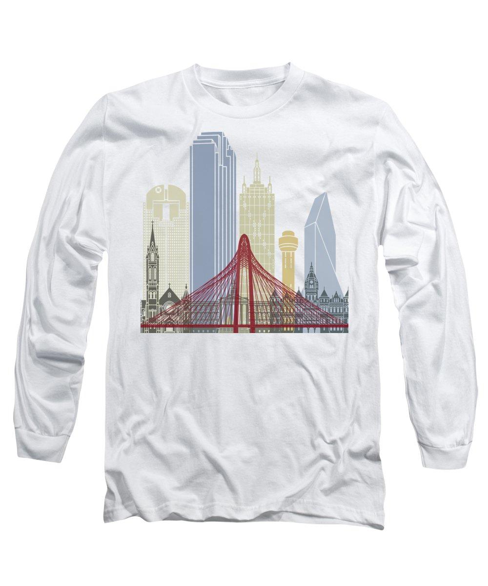 Dallas Skyline Long Sleeve T-Shirts