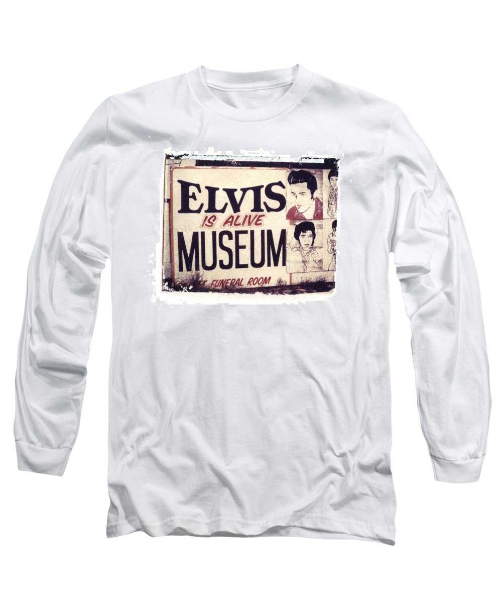 Polaroid Transfer Long Sleeve T-Shirt featuring the photograph Disgraceland No. 2 by Jane Linders