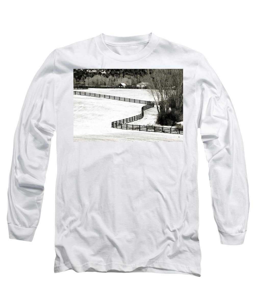 Americana Long Sleeve T-Shirt featuring the photograph Dividing Lines by Marilyn Hunt