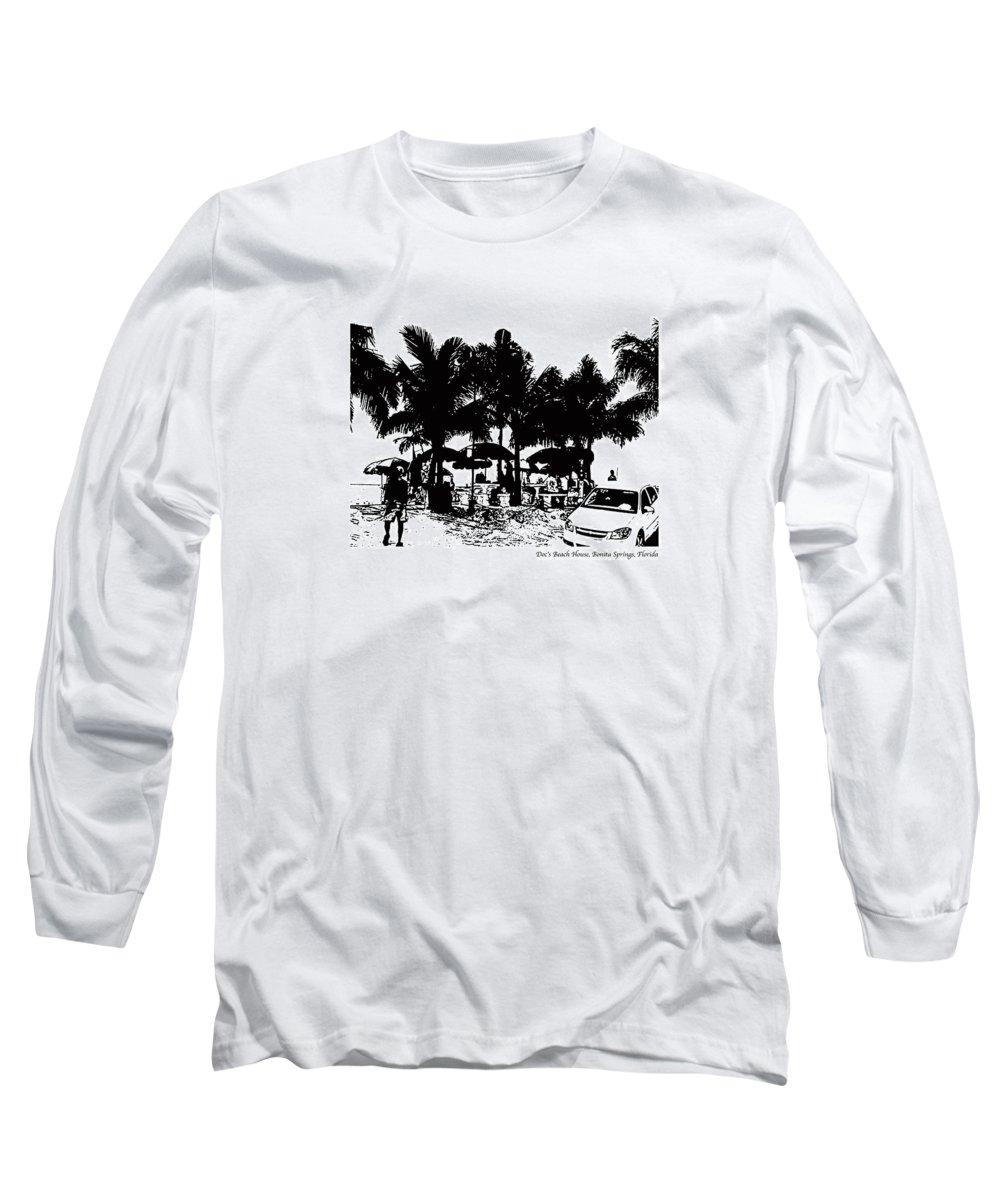 Beach Long Sleeve T-Shirt featuring the photograph Doc's Beach House by Laurie Paci