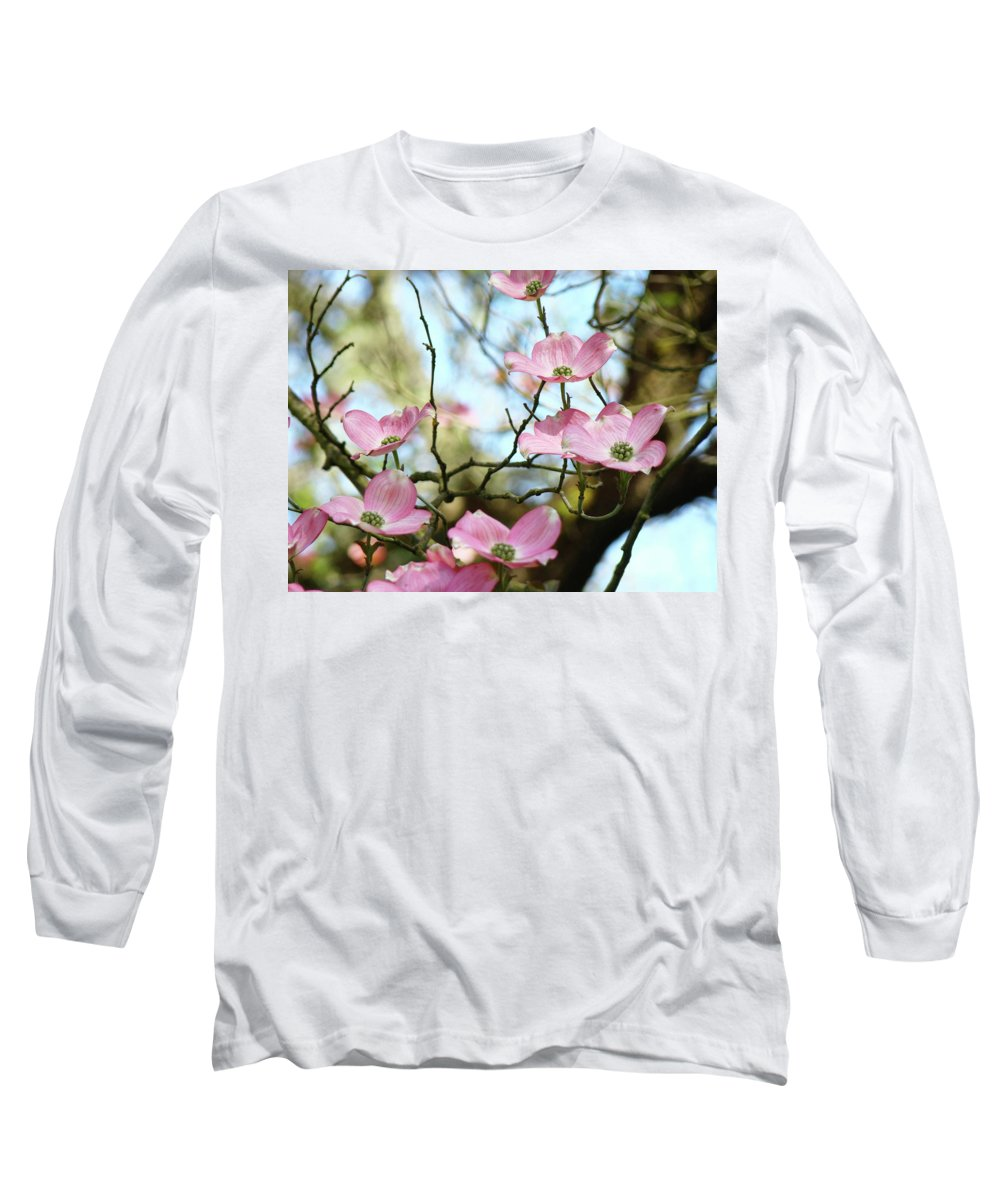 Dogwood Long Sleeve T-Shirt featuring the photograph Dogwood Flowers Pink Dogwood Tree Landscape 9 Giclee Art Prints Baslee Troutman by Baslee Troutman