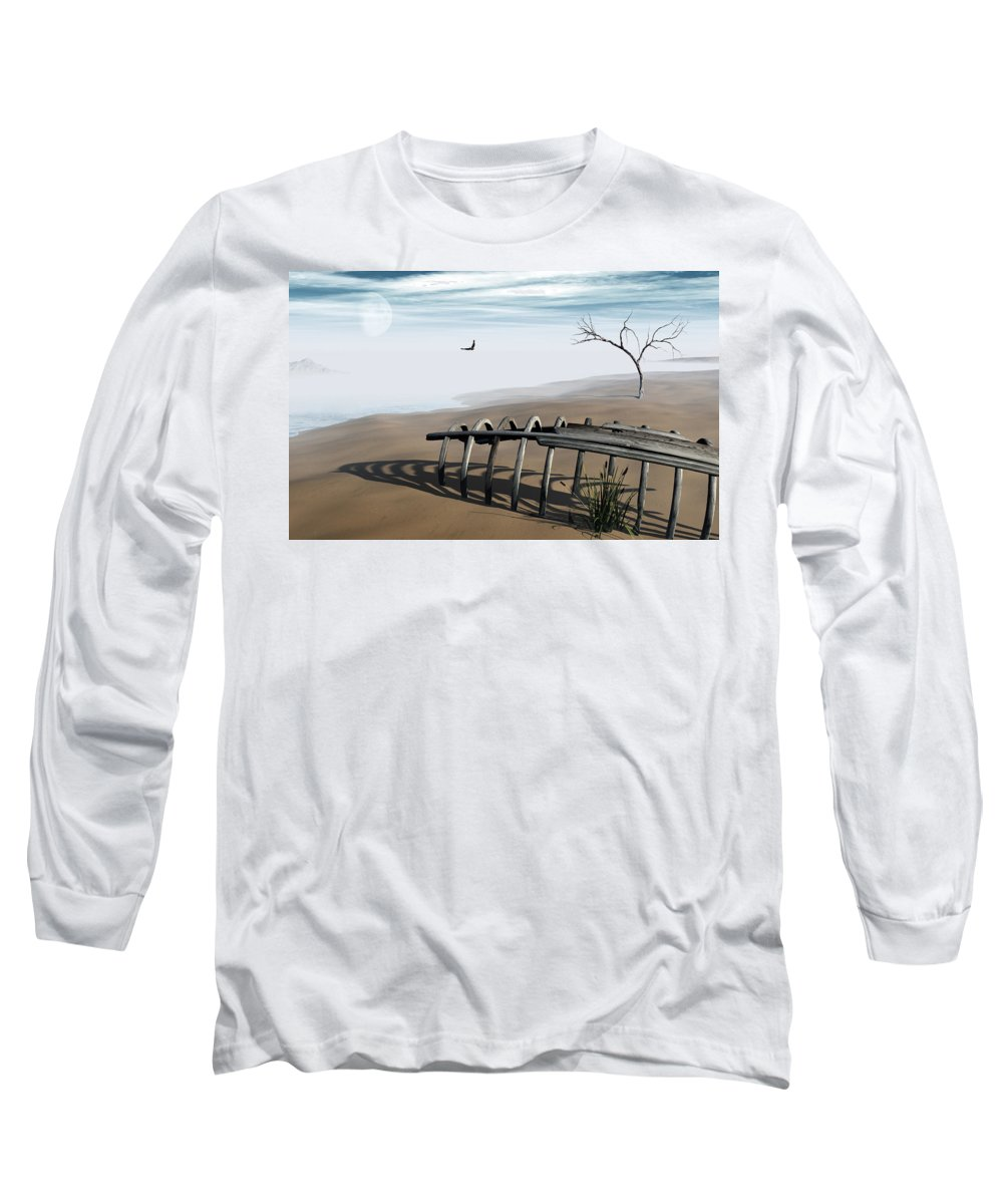 Surreal Long Sleeve T-Shirt featuring the digital art Dream Lake by Richard Rizzo