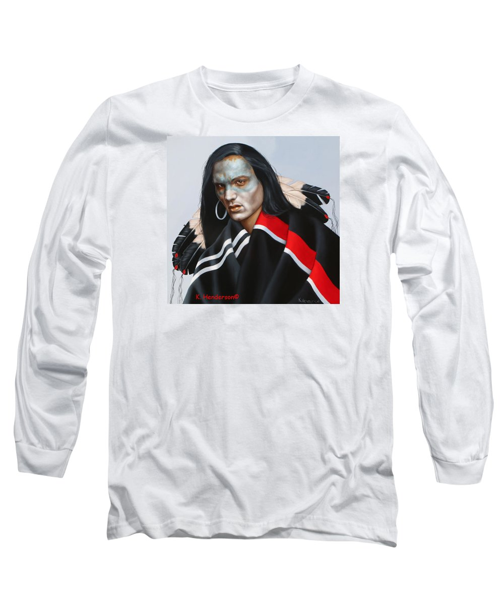 American Indian Long Sleeve T-Shirt featuring the painting Dream Within A Dream by K Henderson
