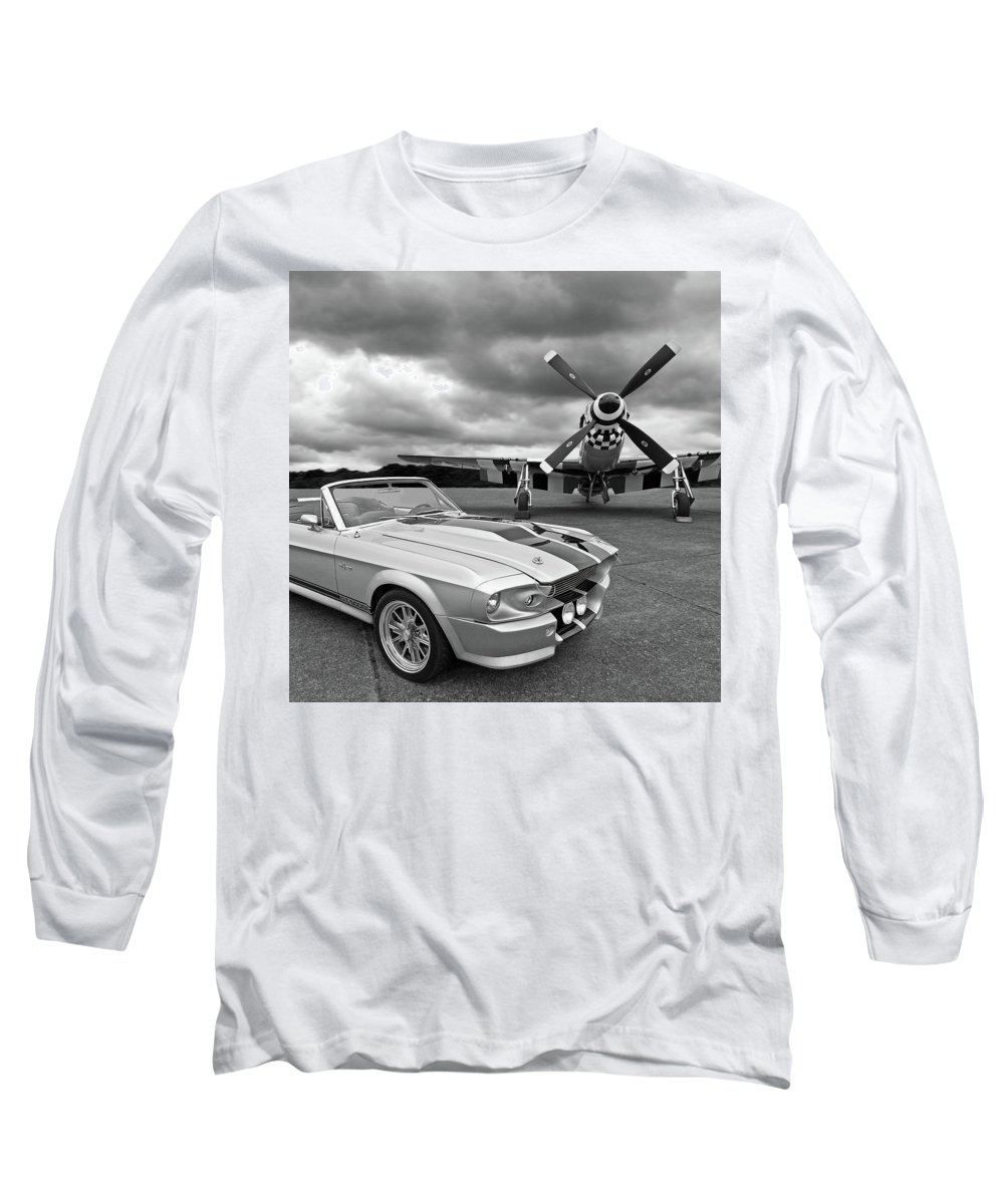 Black And White Bird Photographs Long Sleeve T-Shirts