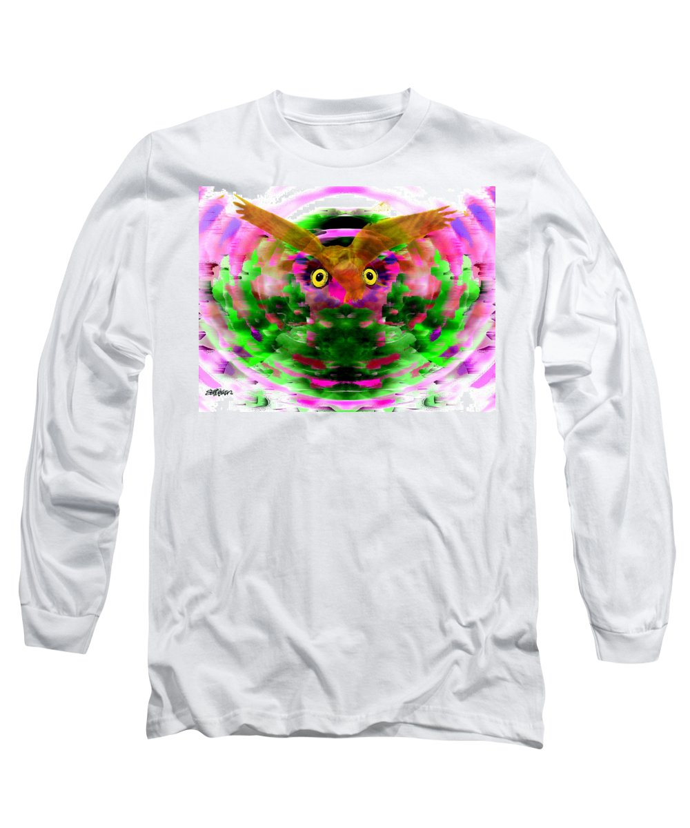 Embrace Long Sleeve T-Shirt featuring the digital art Embrace The Wind by Seth Weaver