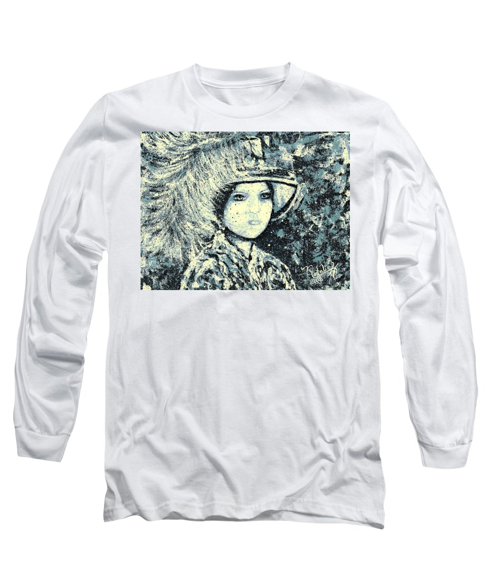Woman Long Sleeve T-Shirt featuring the painting Evalina by Natalie Holland