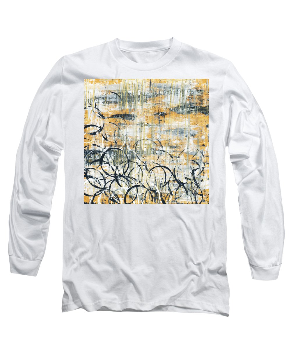Painting Long Sleeve T-Shirt featuring the painting Falls Design 3 by Megan Duncanson