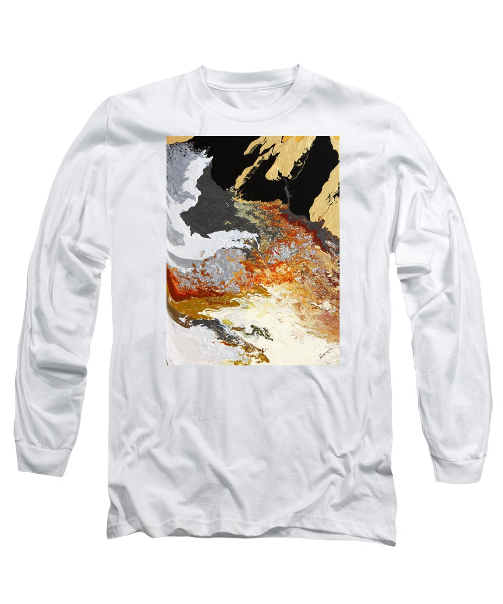 Fusionart Long Sleeve T-Shirt featuring the painting Fathom by Ralph White