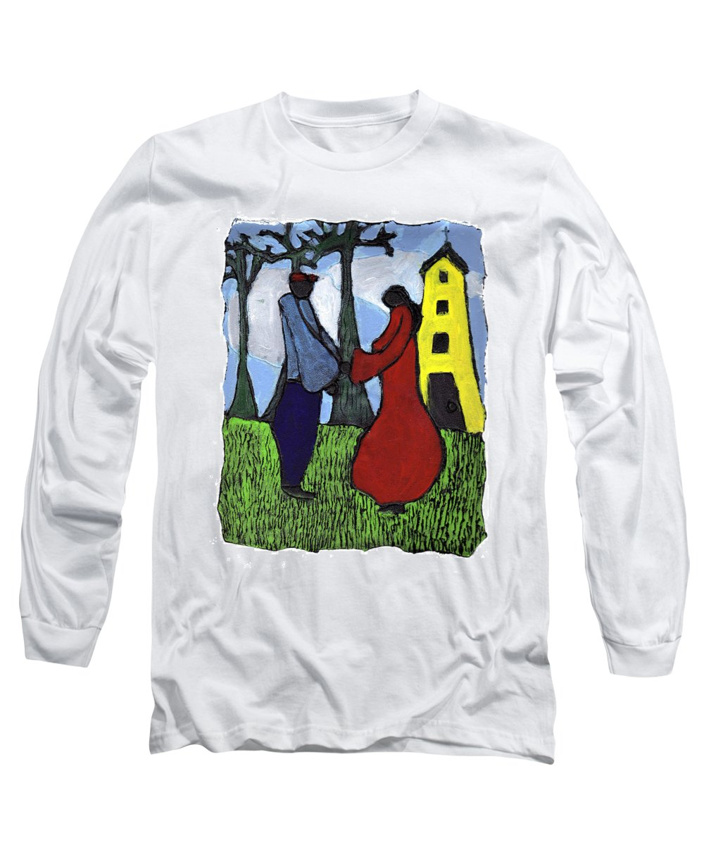 Love Long Sleeve T-Shirt featuring the painting First Love by Wayne Potrafka