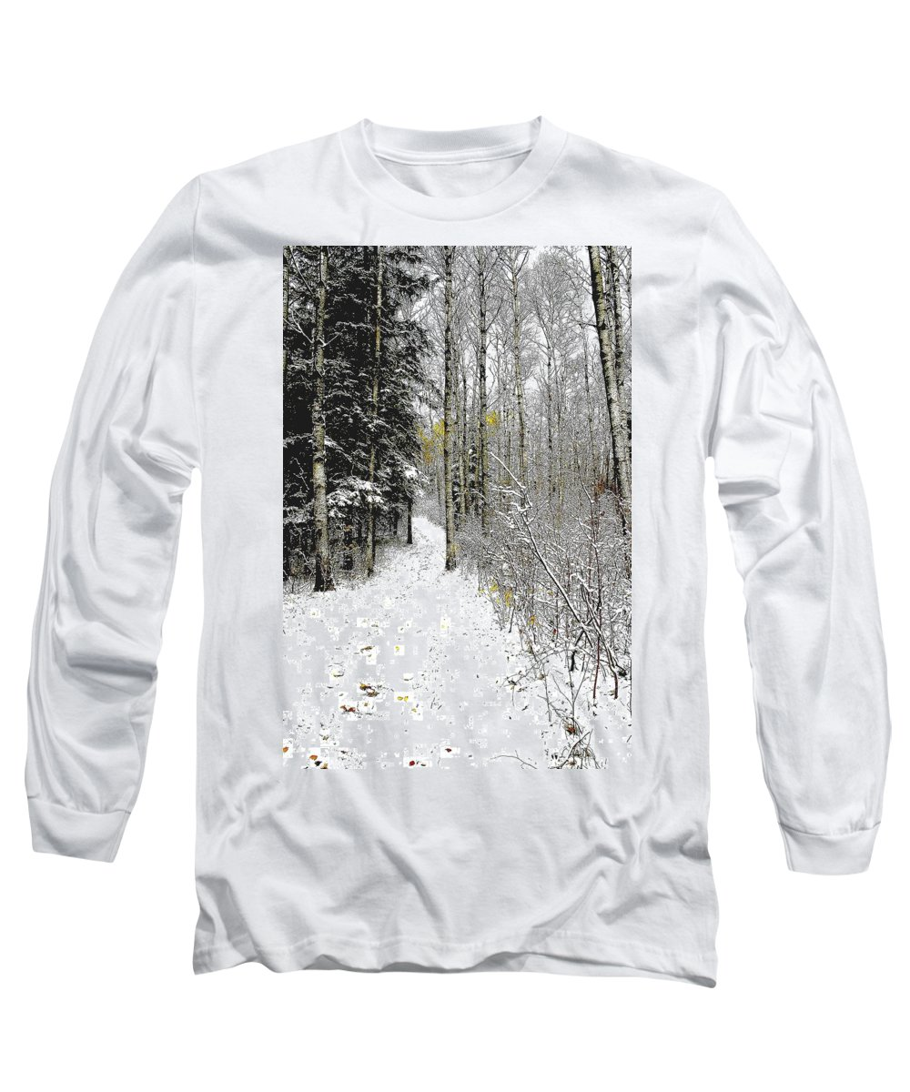 Winter Long Sleeve T-Shirt featuring the photograph First Snowfall by Nelson Strong