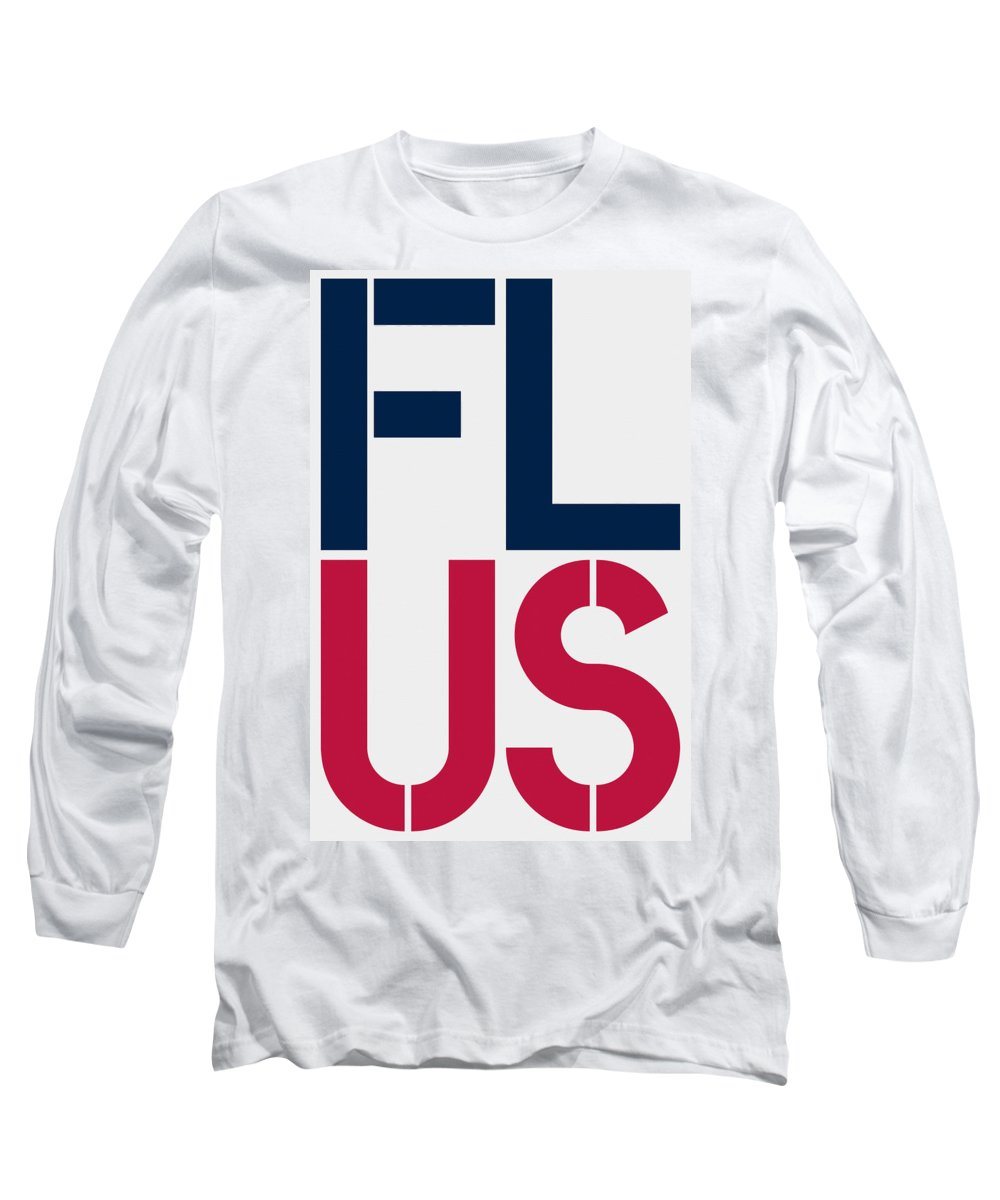 United States Of America Long Sleeve T-Shirt featuring the painting Florida by Three Dots