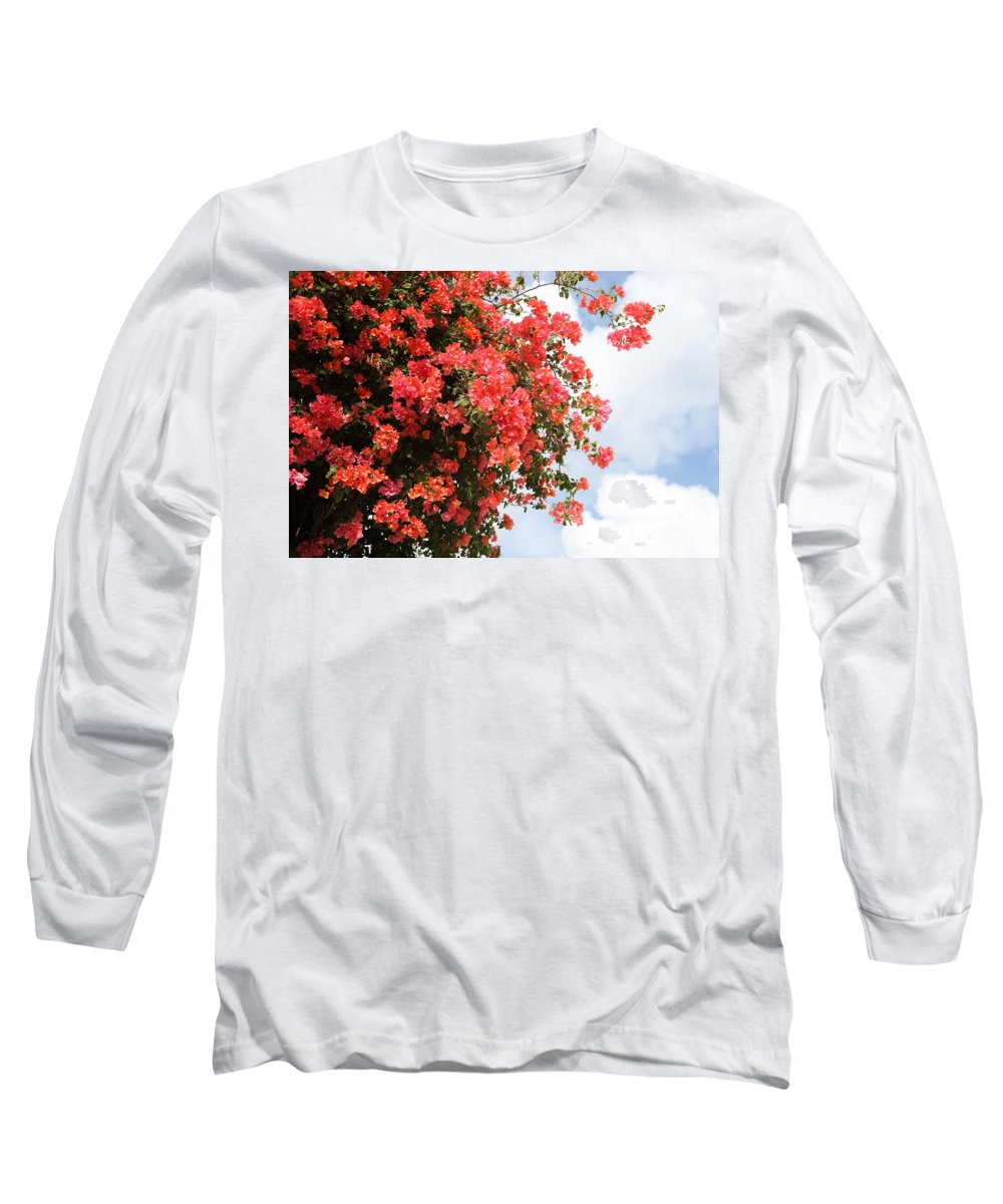 Hawaii Long Sleeve T-Shirt featuring the photograph Flowering Tree by Nadine Rippelmeyer