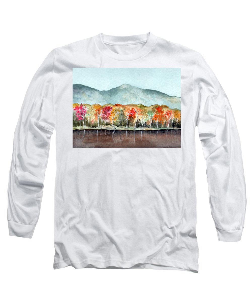 Watercolor Long Sleeve T-Shirt featuring the painting Foliage by Brenda Owen