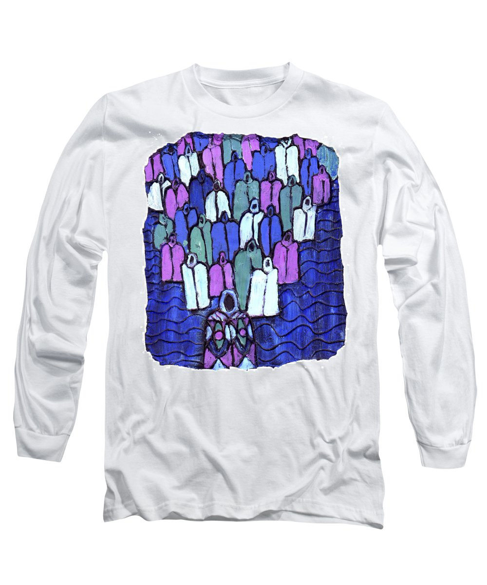 Ancestors Long Sleeve T-Shirt featuring the painting Following The Ancestors by Wayne Potrafka