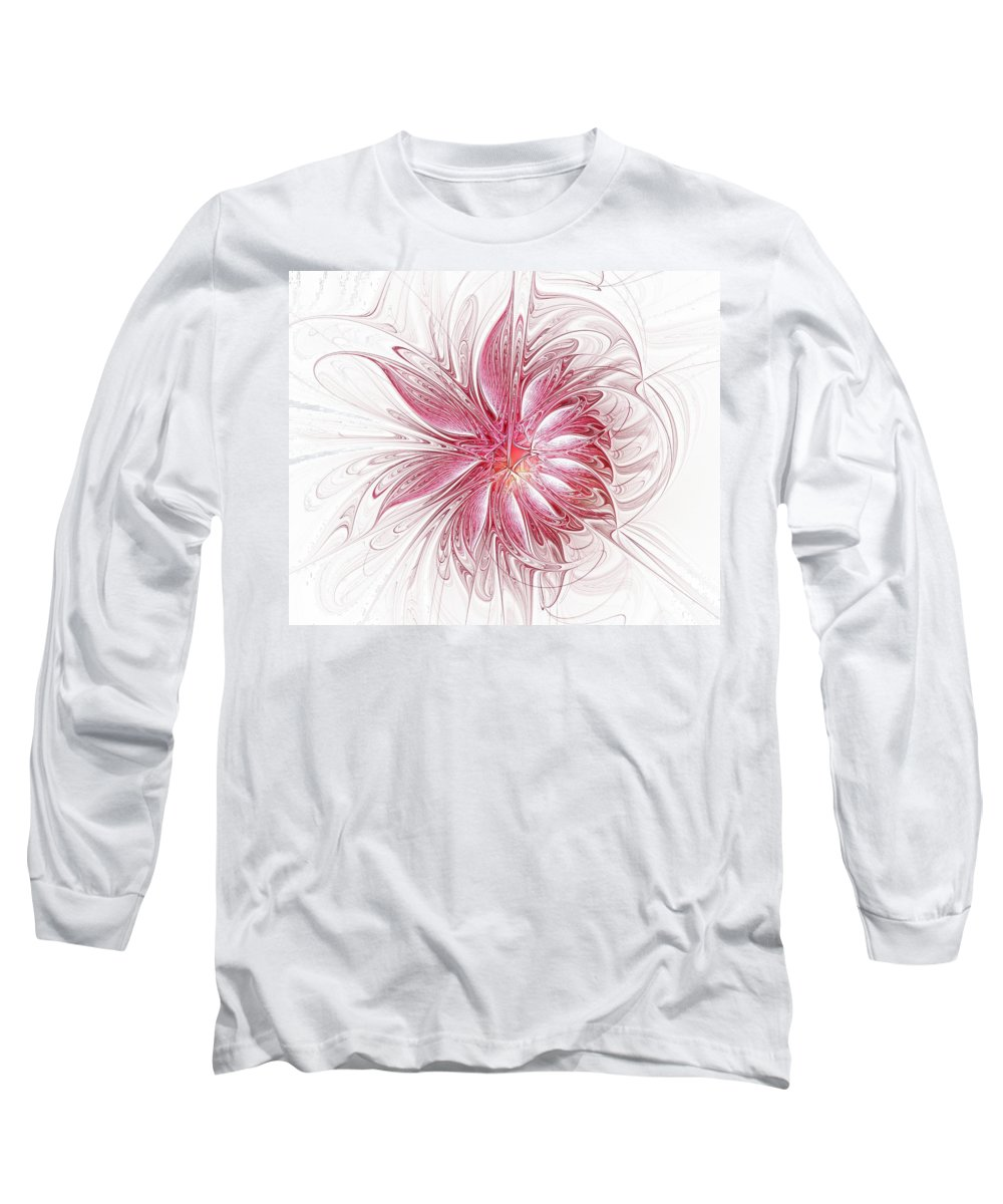 Digital Art Long Sleeve T-Shirt featuring the digital art Fragile by Amanda Moore