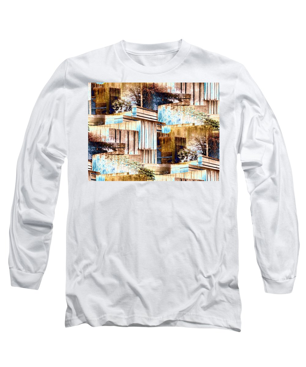 Seattle Long Sleeve T-Shirt featuring the digital art Freeway Park by Tim Allen