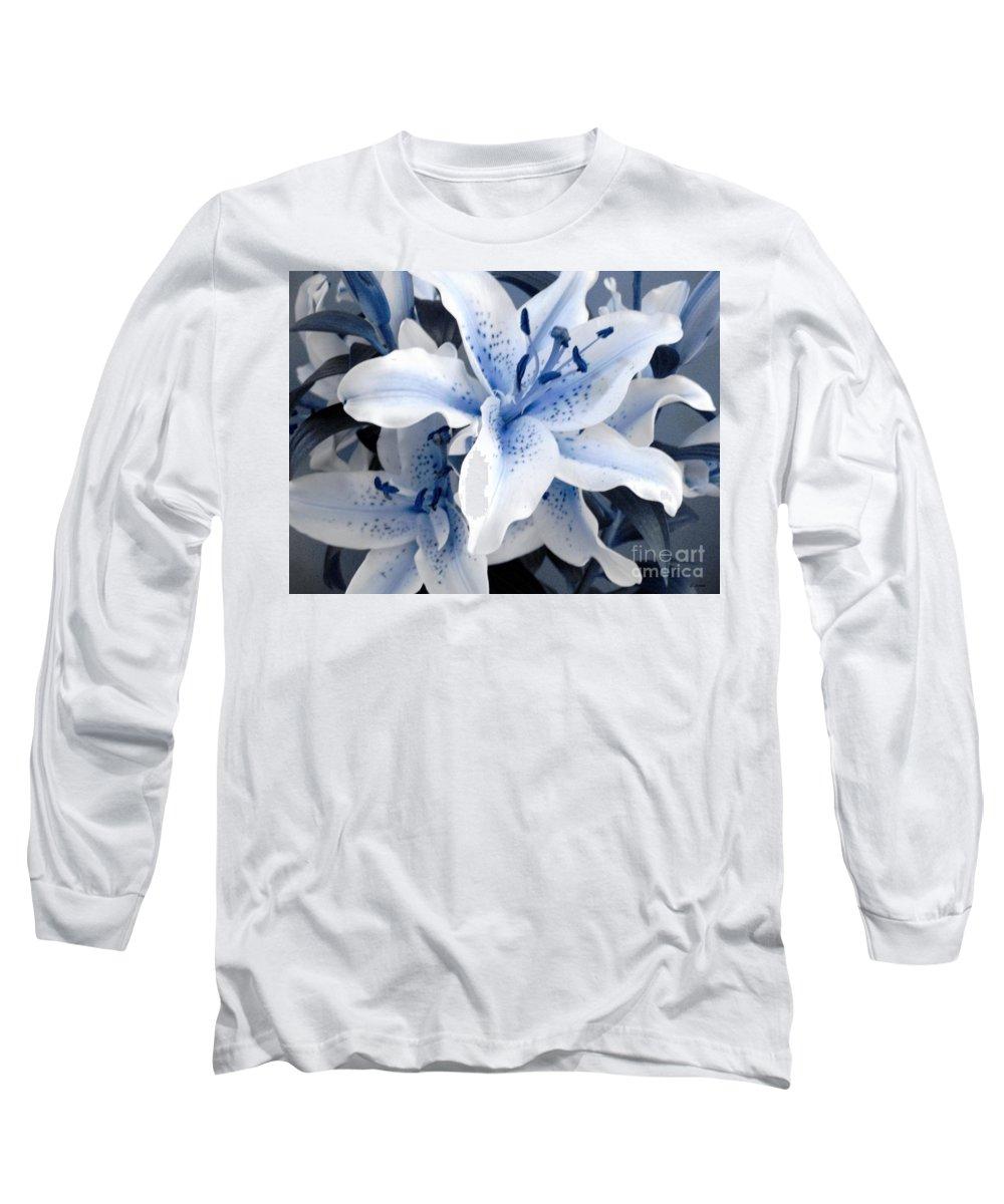 Blue Long Sleeve T-Shirt featuring the photograph Freeze by Shelley Jones