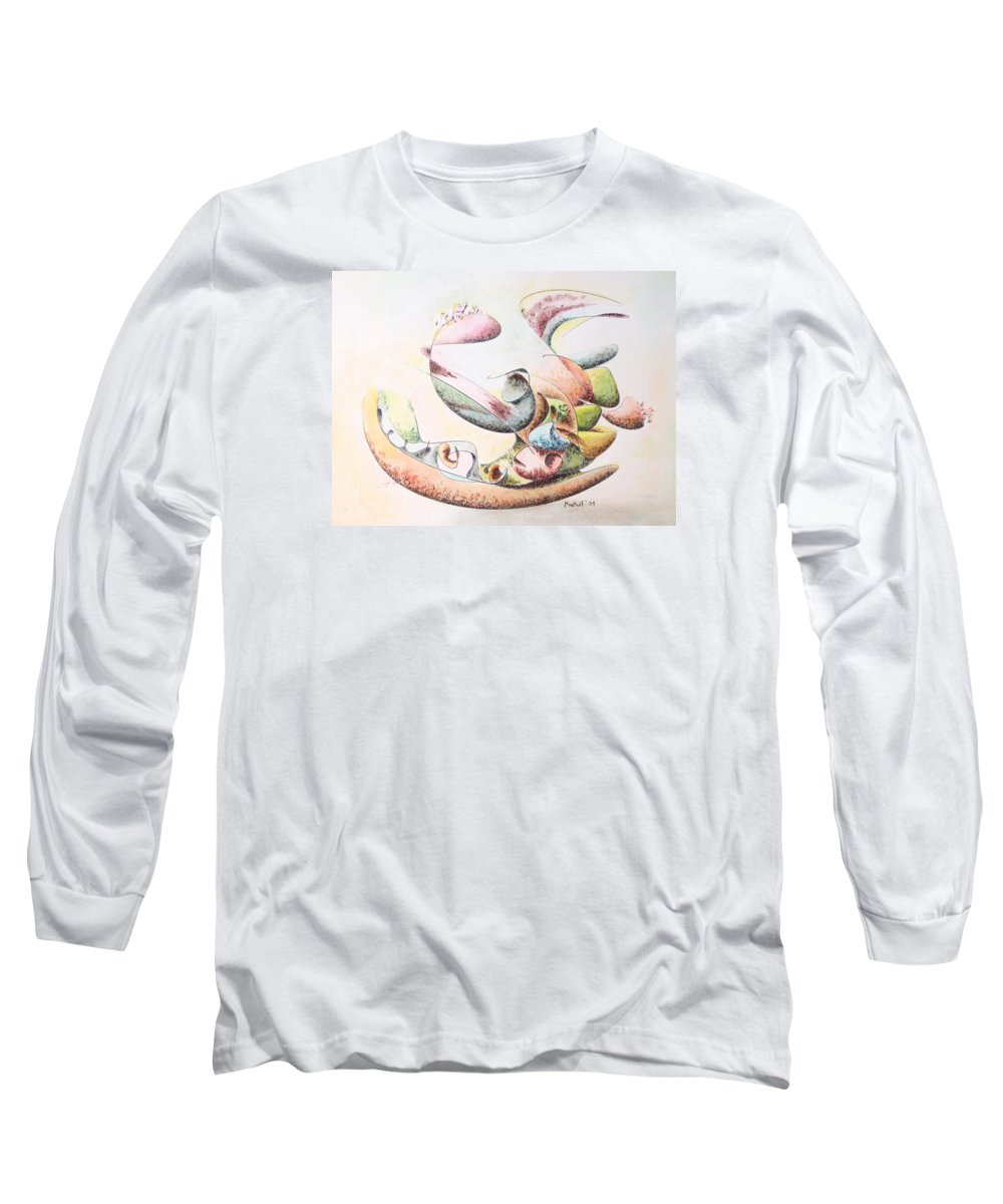 Abstract Long Sleeve T-Shirt featuring the painting Full Force by Dave Martsolf