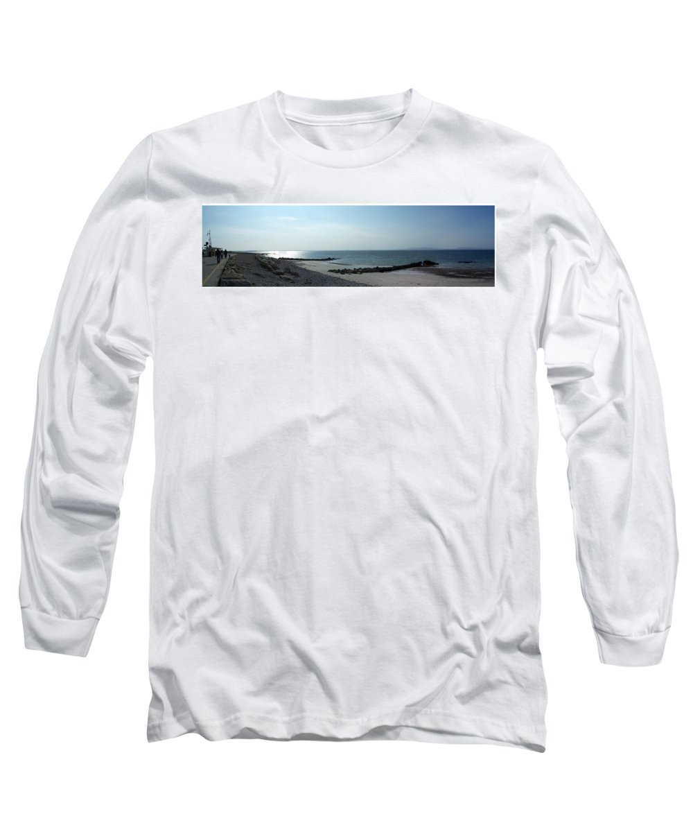 Irish Long Sleeve T-Shirt featuring the photograph Galway Bay At Salt Hill Park Galway Ireland by Teresa Mucha