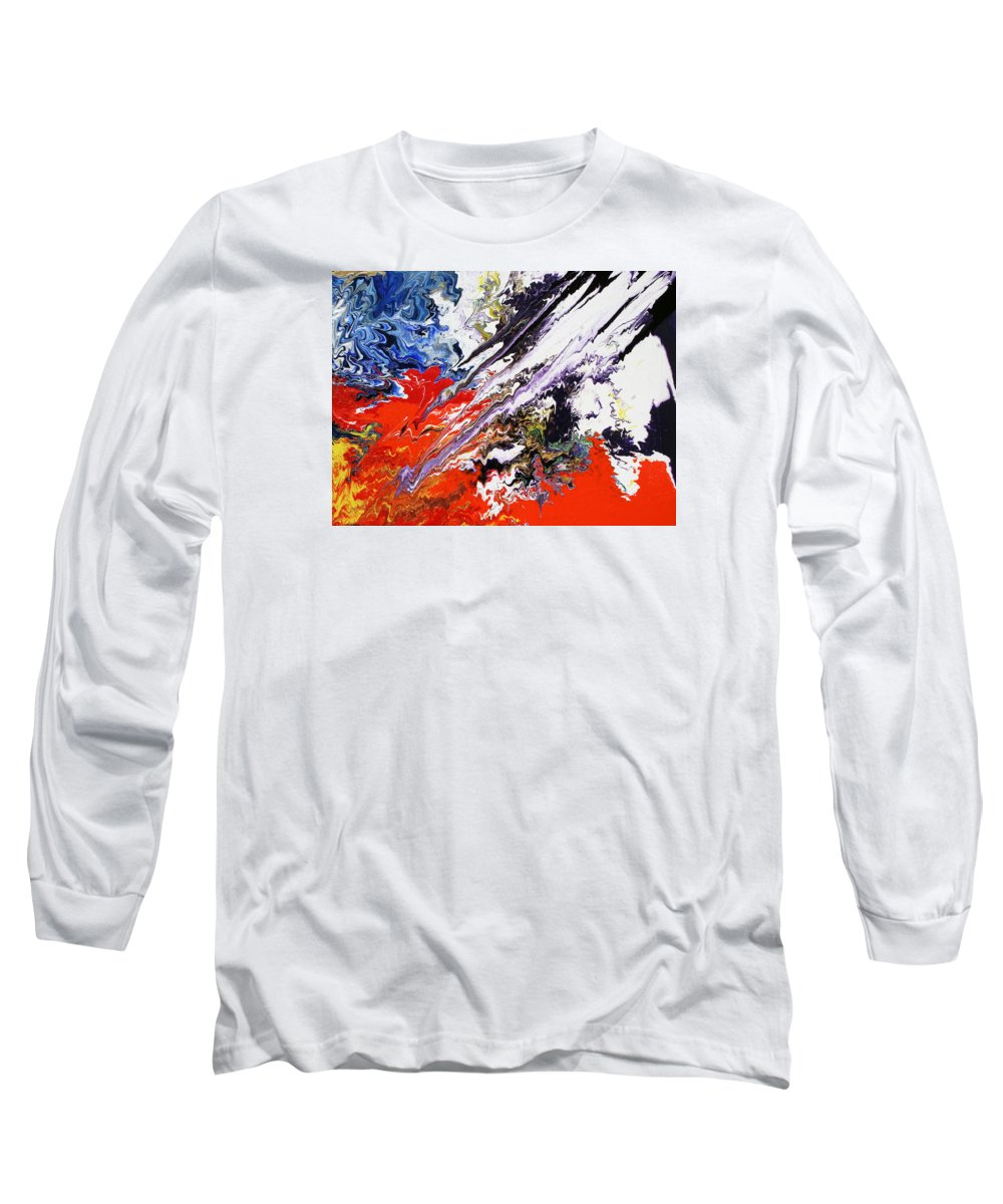 Fusionart Long Sleeve T-Shirt featuring the painting Genesis by Ralph White
