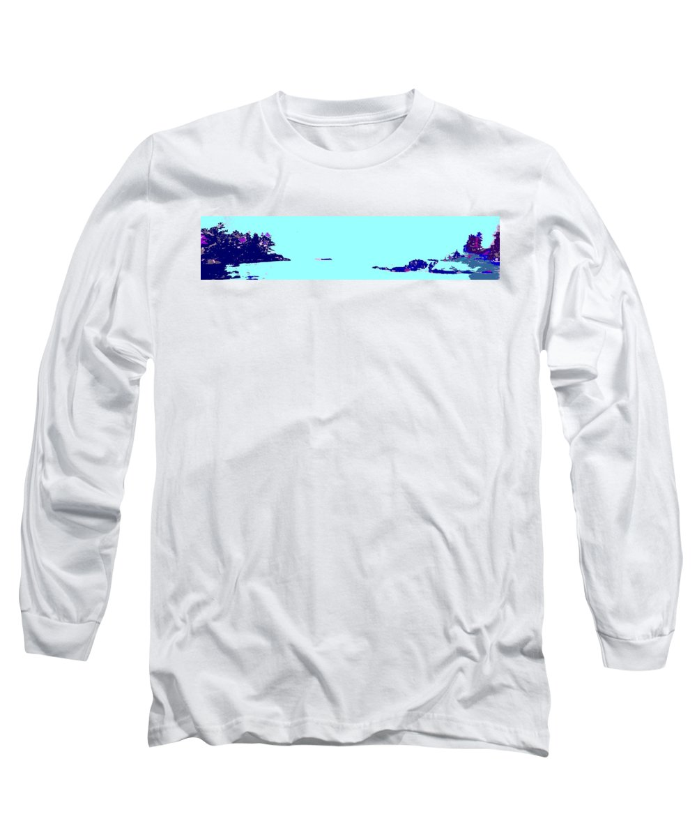 Long Sleeve T-Shirt featuring the photograph Georgian Bay Blue by Ian MacDonald