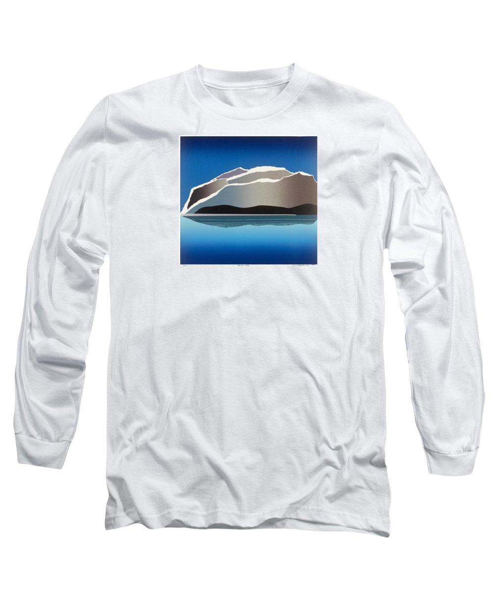 Landscape Long Sleeve T-Shirt featuring the mixed media Glaciers by Jarle Rosseland