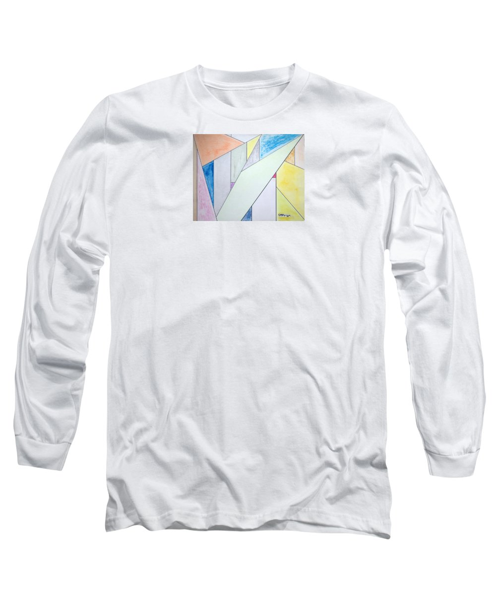Buildings Long Sleeve T-Shirt featuring the mixed media Glass-scrapers by J R Seymour