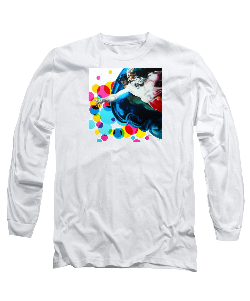 Classic Long Sleeve T-Shirt featuring the painting God by Jean Pierre Rousselet