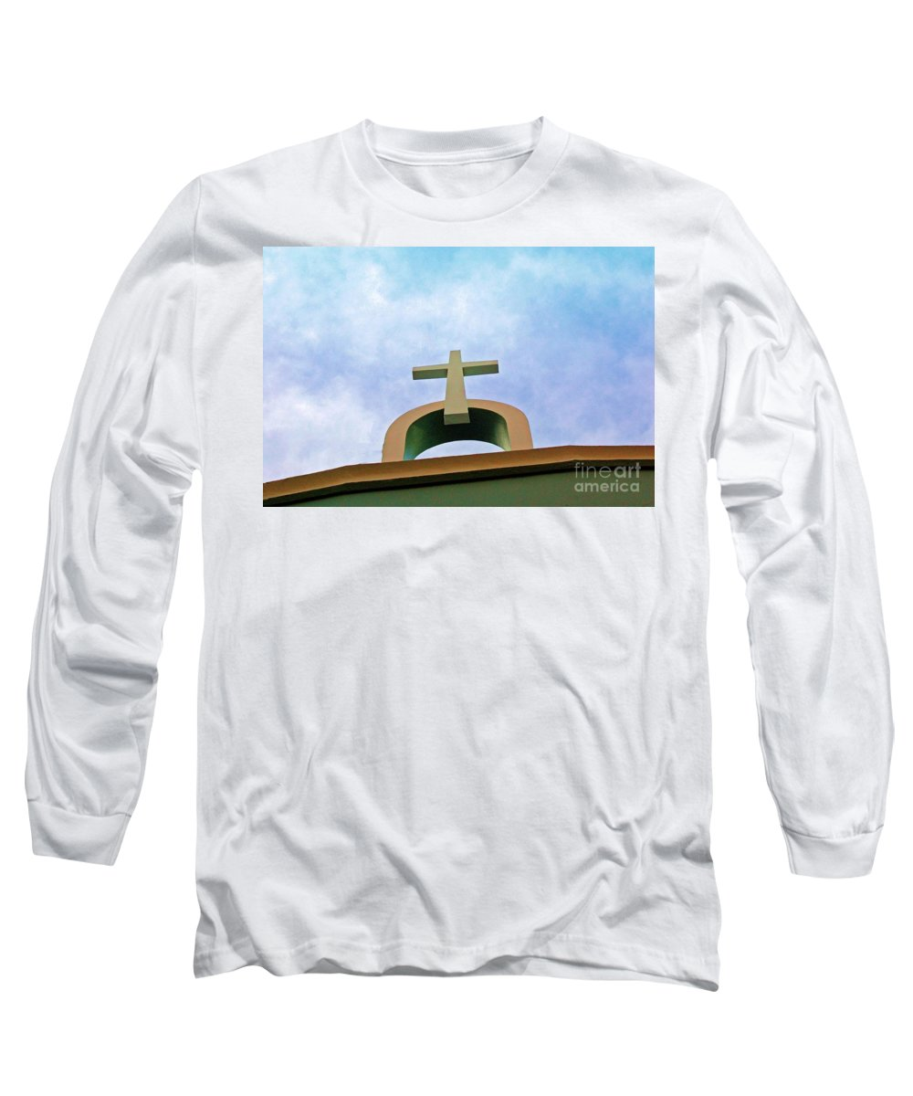 Cross Long Sleeve T-Shirt featuring the photograph Going Up by Debbi Granruth