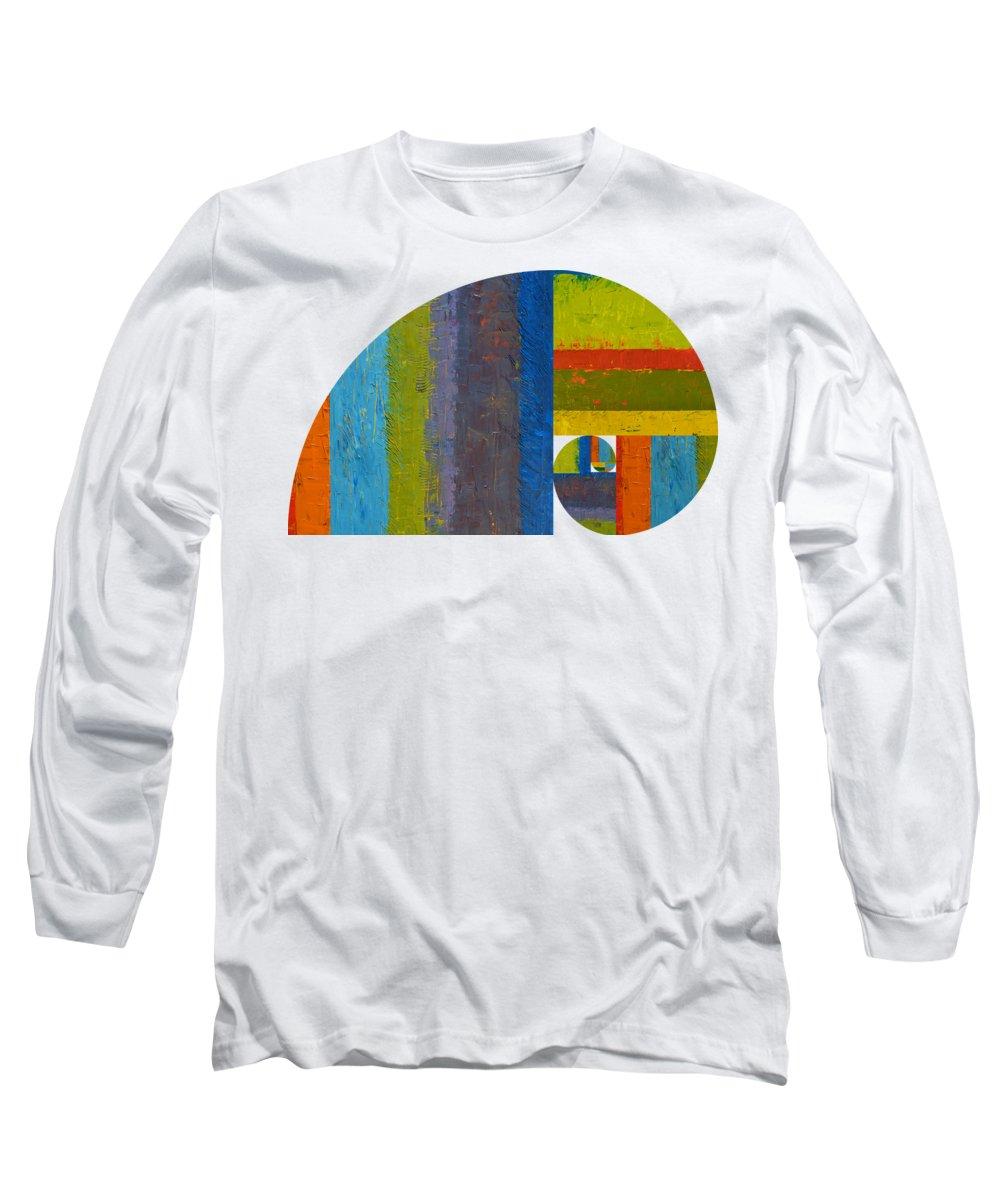 Fibonacci Long Sleeve T-Shirt featuring the digital art Golden Spiral Study by Michelle Calkins