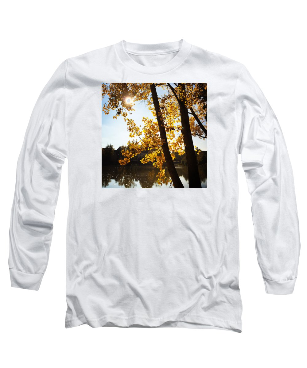 Tree Long Sleeve T-Shirt featuring the photograph Golden trees in autumn Sindelfingen Germany by Matthias Hauser