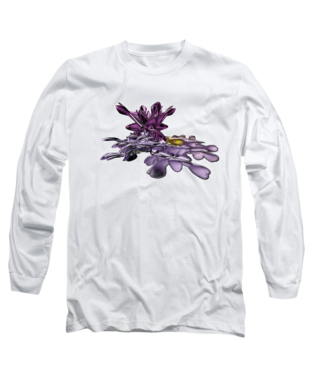 Fractal Long Sleeve T-Shirt featuring the digital art Golumphr Castle by Frederic Durville