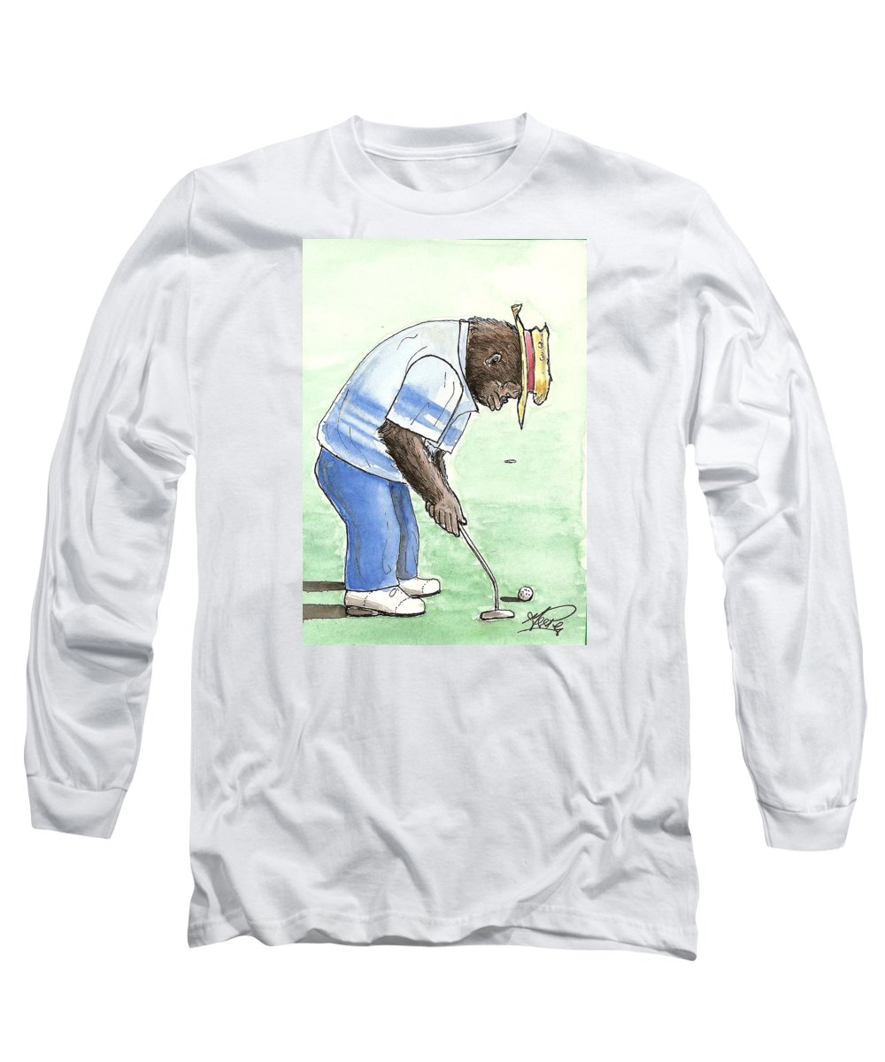 Golf Long Sleeve T-Shirt featuring the painting Got You Now by George I Perez