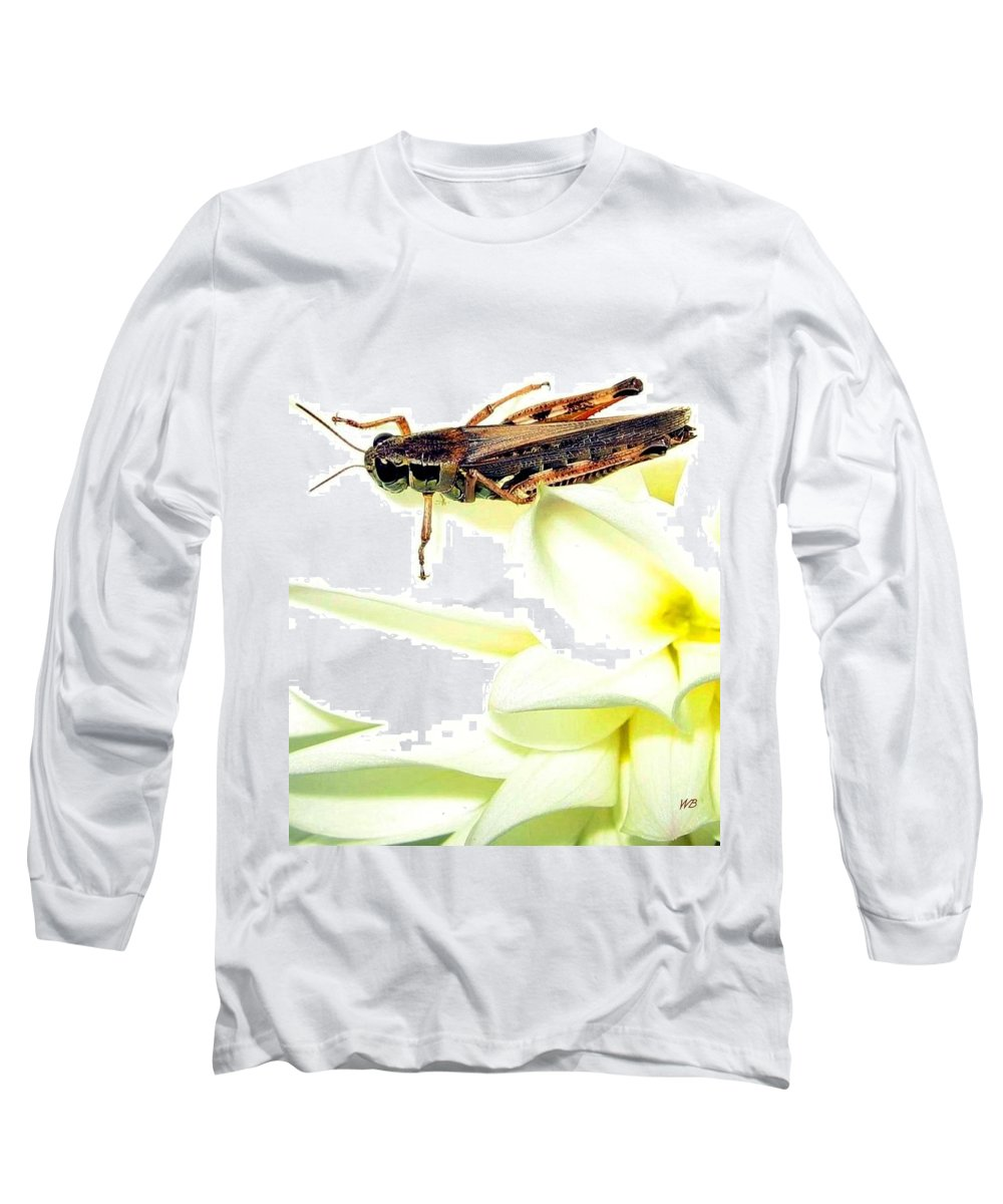 Grasshopper Long Sleeve T-Shirt featuring the photograph Grasshopper by Will Borden