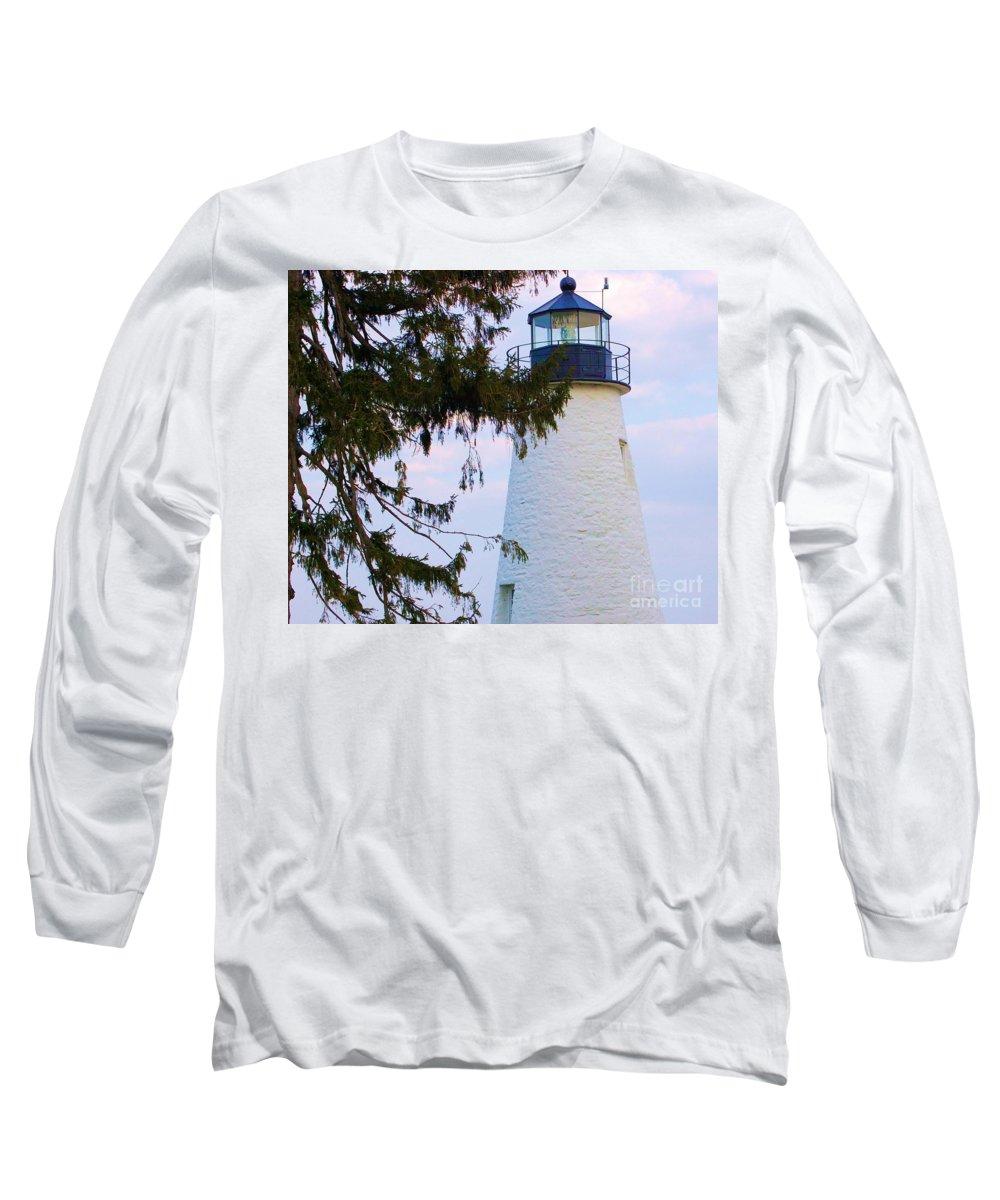 Lighthouse Long Sleeve T-Shirt featuring the photograph Havre De Grace Lighthouse by Debbi Granruth