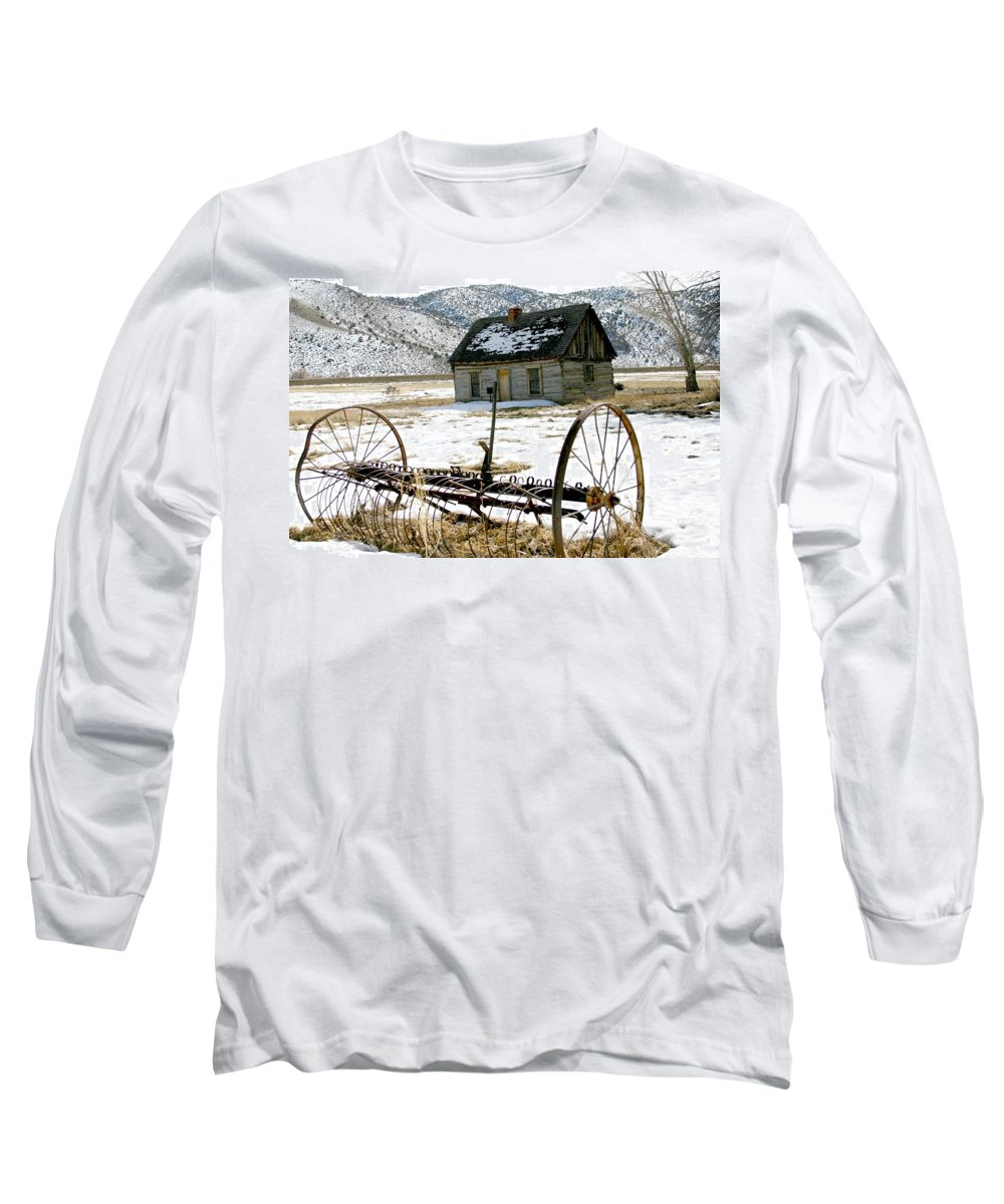 Utah Long Sleeve T-Shirt featuring the photograph Hay Rake At Butch Cassidy by Nelson Strong